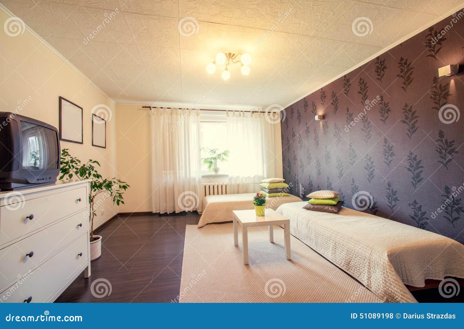 modernes schlafzimmer stockfoto bild 51089198. Black Bedroom Furniture Sets. Home Design Ideas
