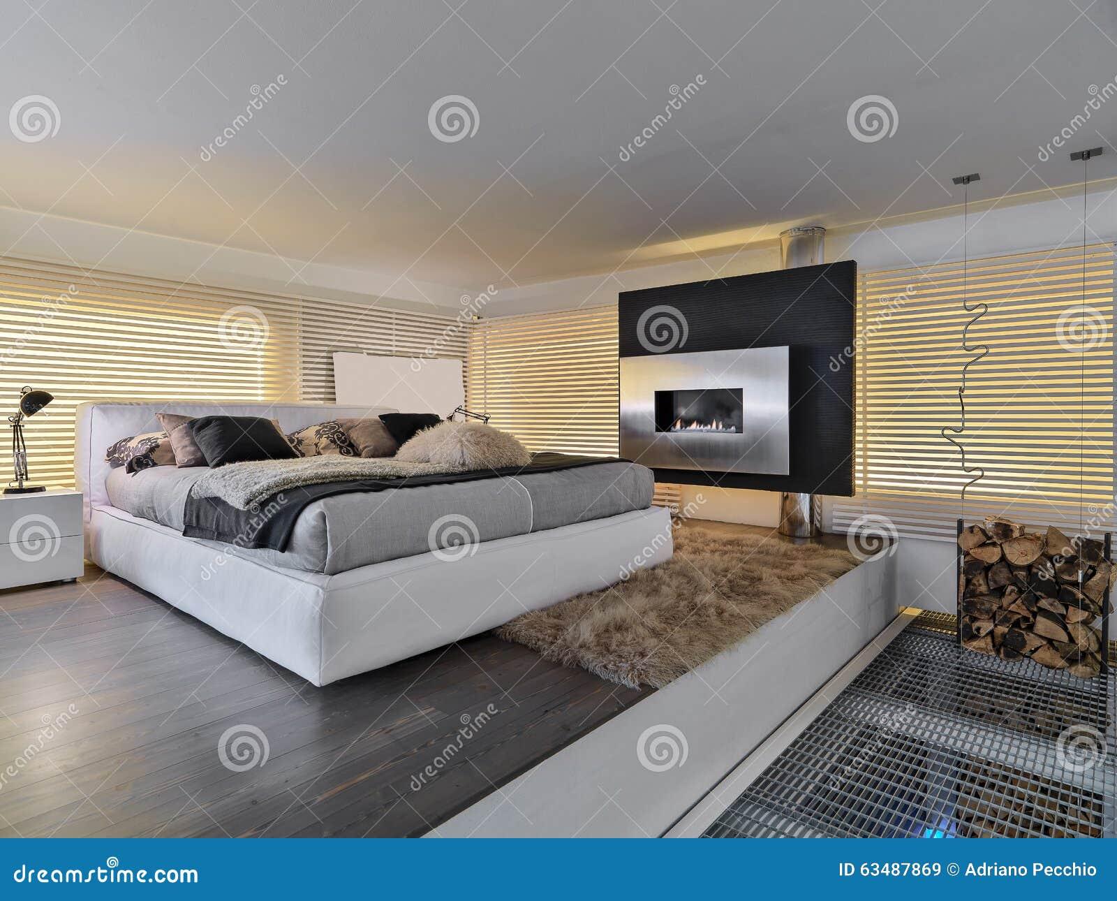 Modernes Schlafzimmer Stockbild Bild Von Schlafzimmer   63487869