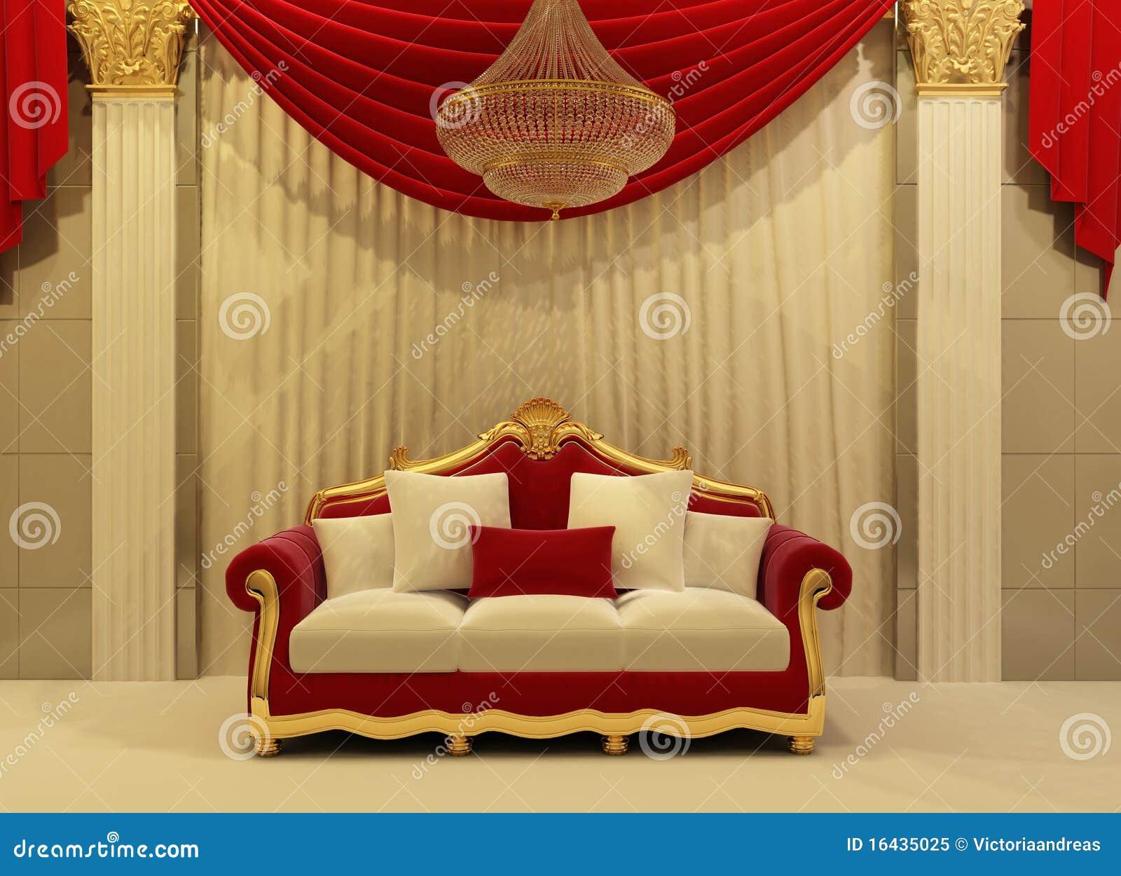 Modernes sofa im k niglichen innenraum lizenzfreies for Innenraum designer programm