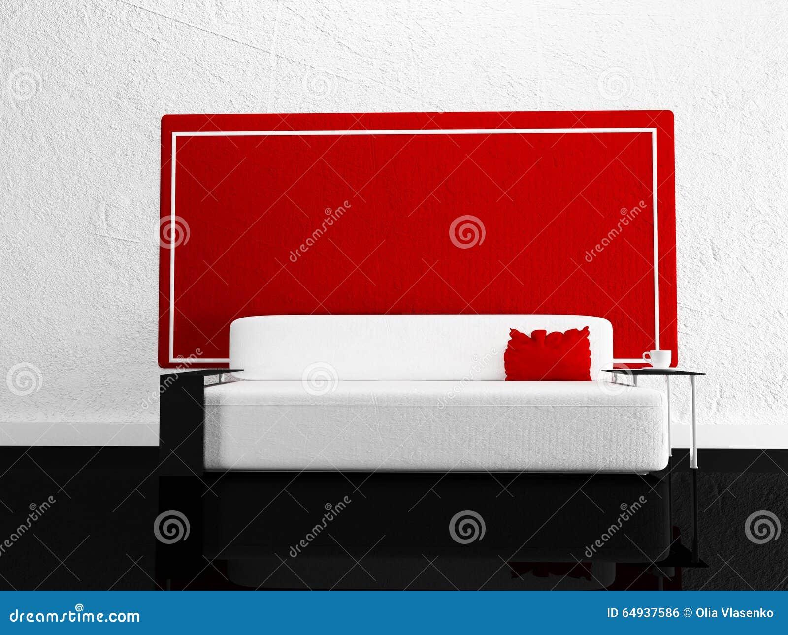 Modernes sofa im raum stock abbildung bild von bequem for Sofa im raum