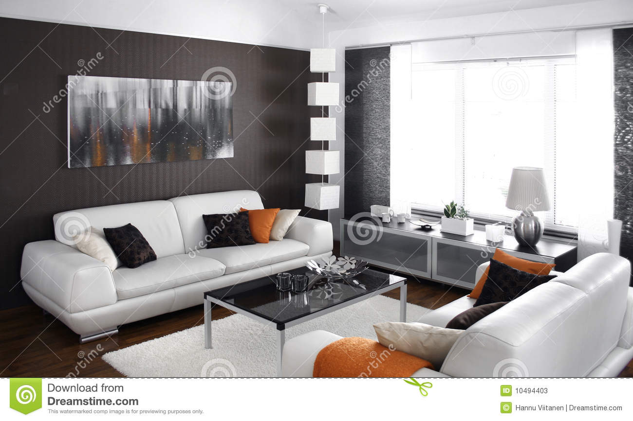 modernes wohnzimmer stockfotos bild 10494403. Black Bedroom Furniture Sets. Home Design Ideas