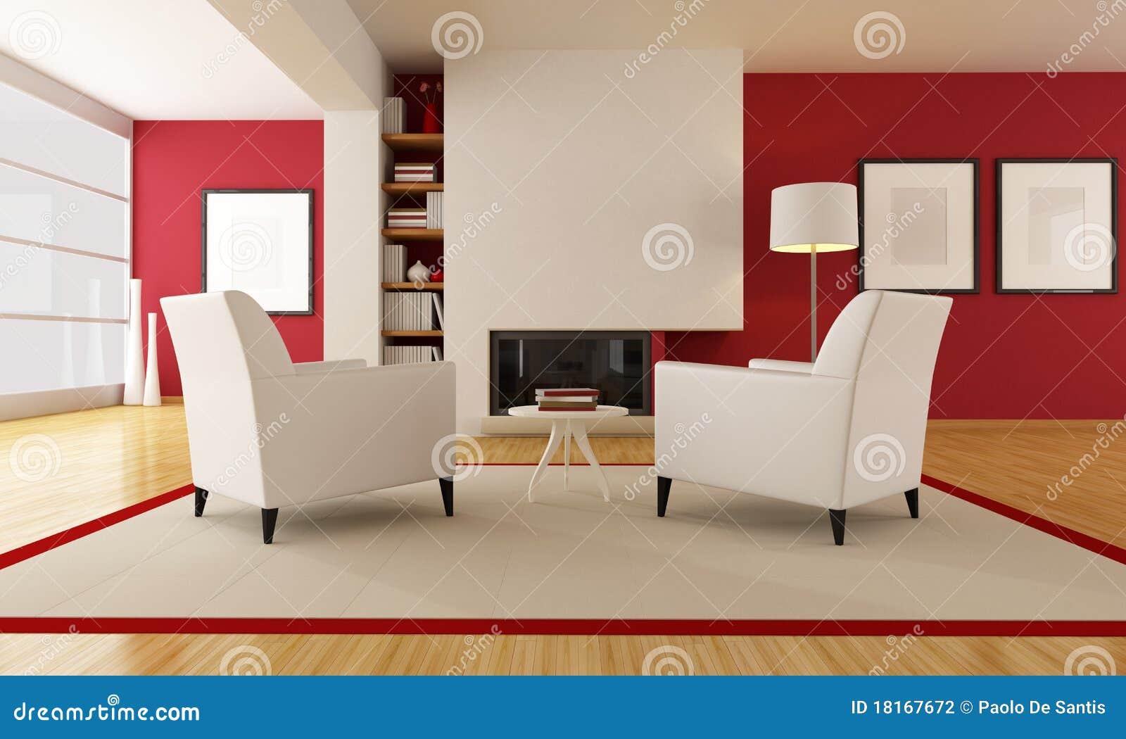 Download Modernes Wohnzimmer Mit Kamin Stock Abbildung   Illustration Von  Zeitgenössisch, Kreativ: 18167672
