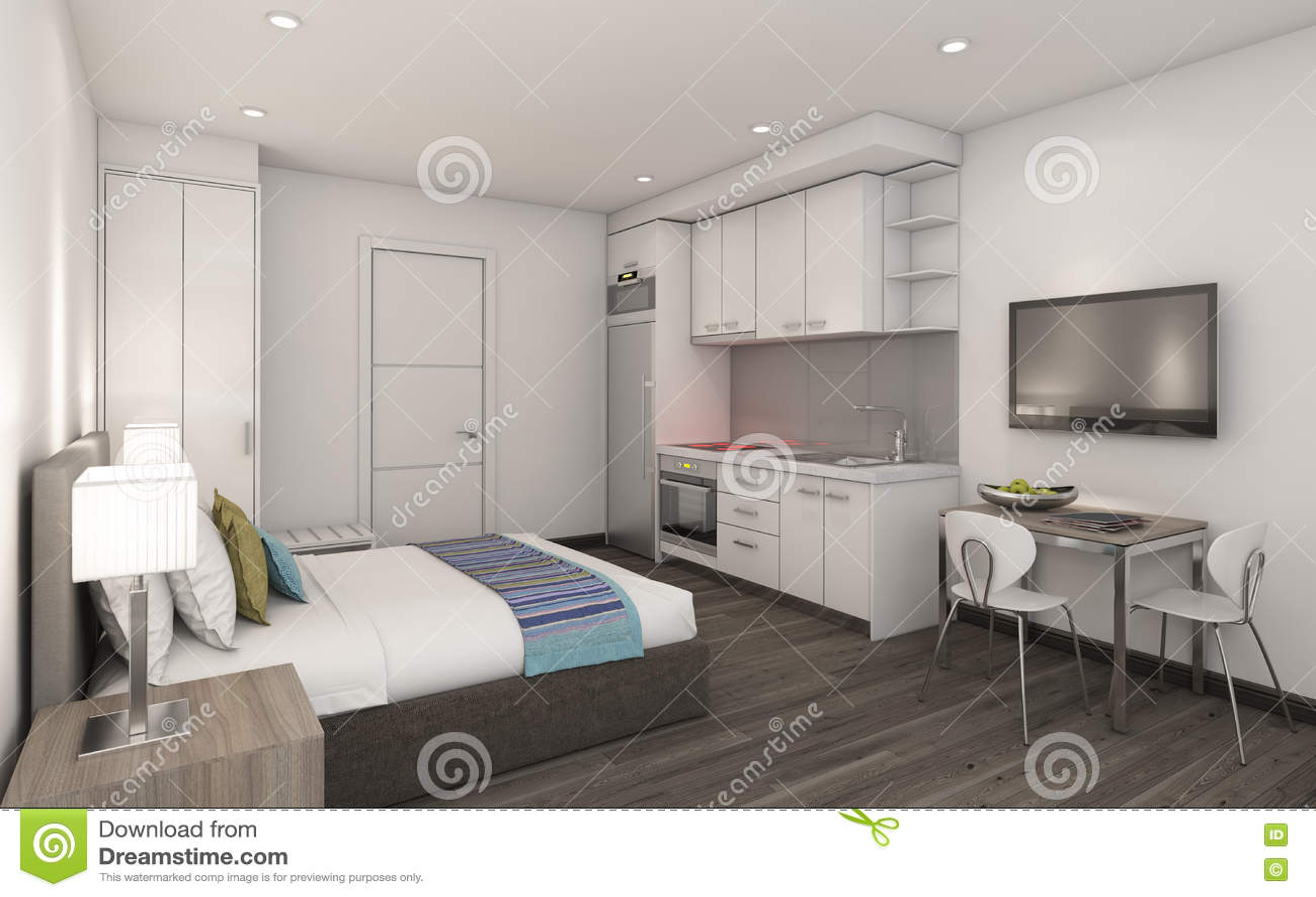 Modernes Wohnzimmer In Privat House Stock Abbildung - Illustration ...