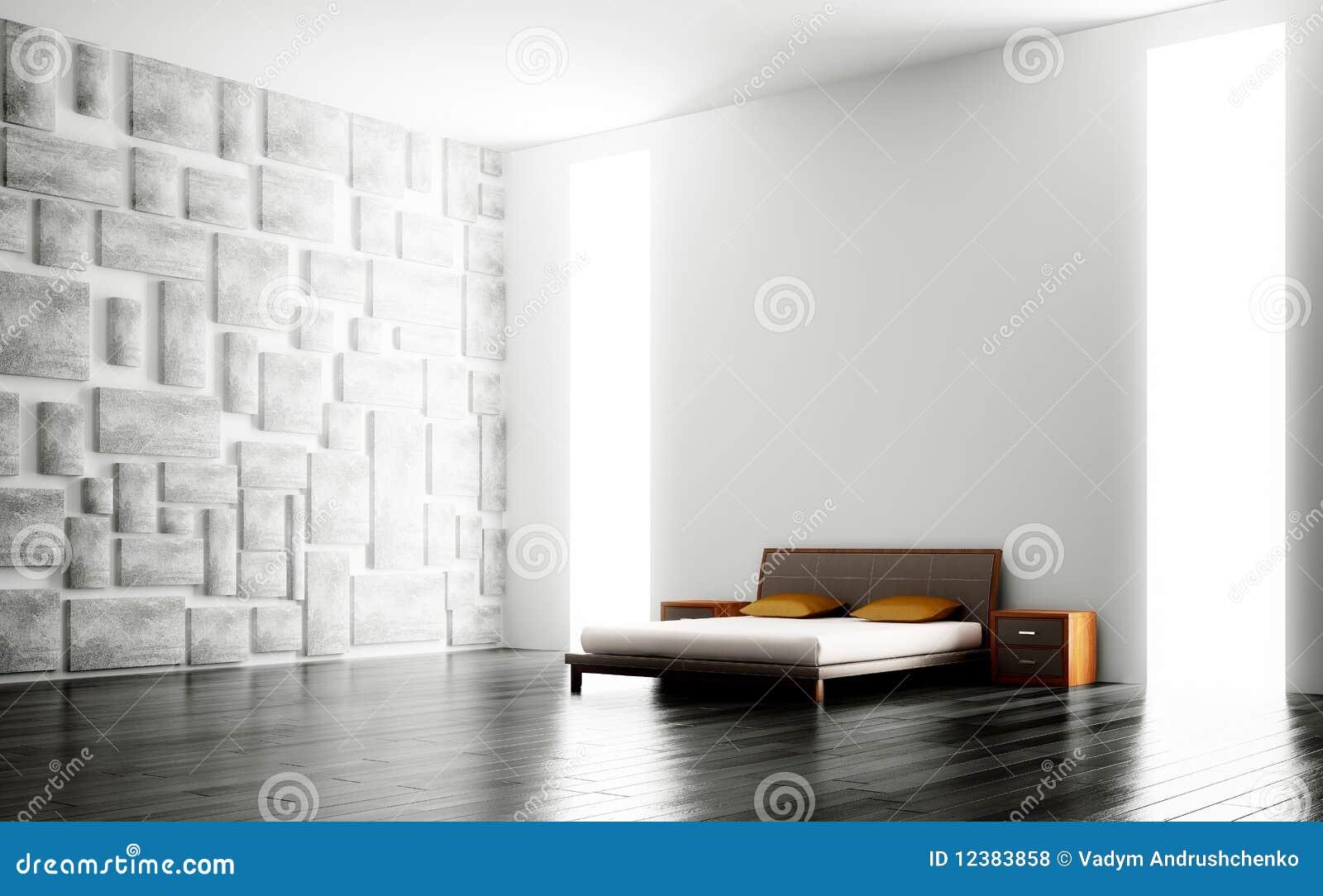 Moderno interno della camera da letto 3d illustrazione di stock illustrazione di stanza - Pavimento camera da letto ...