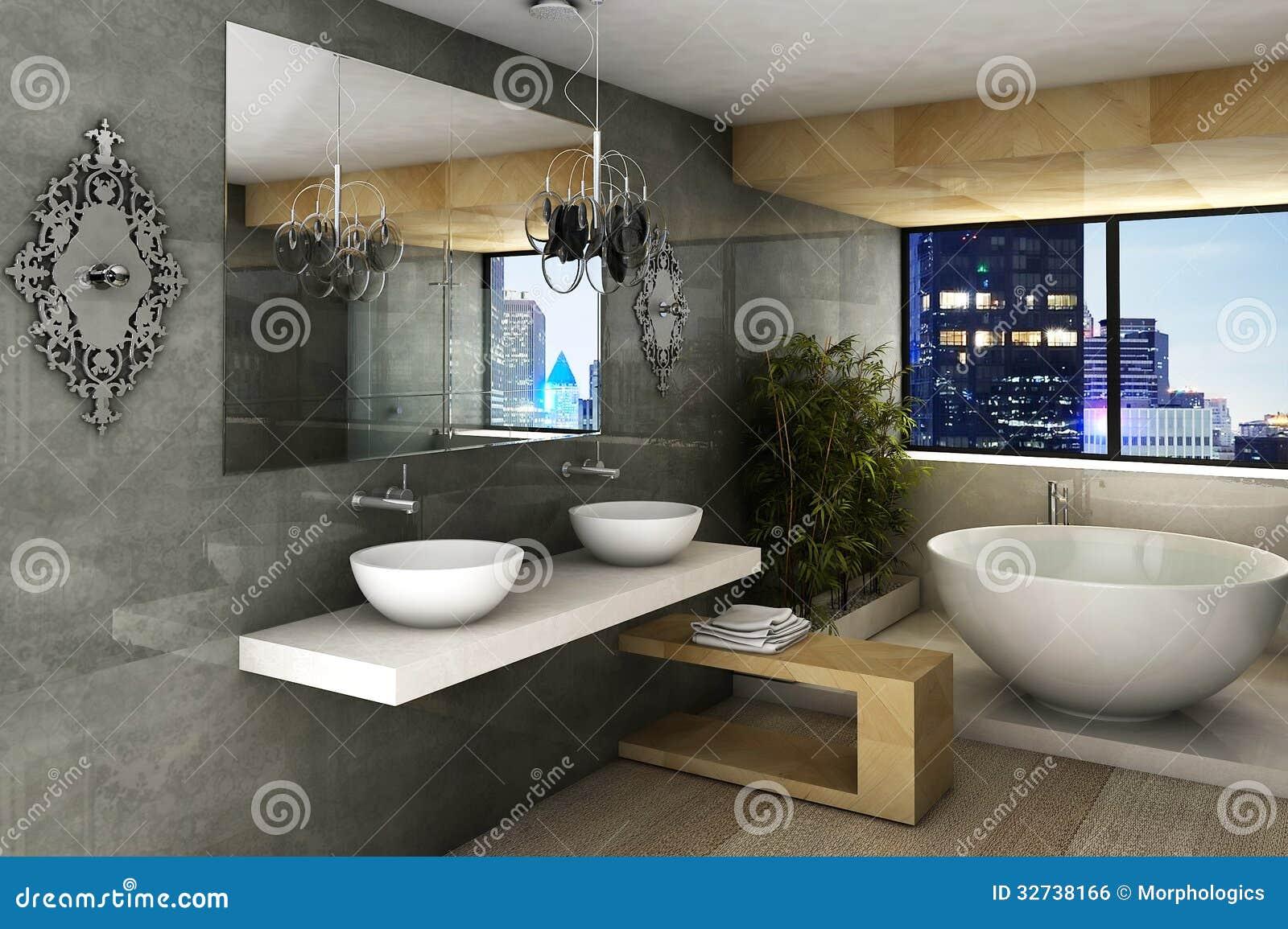 Modernt badrum arkivfoto. Bild av skönhetsmedel, flott - 32738166