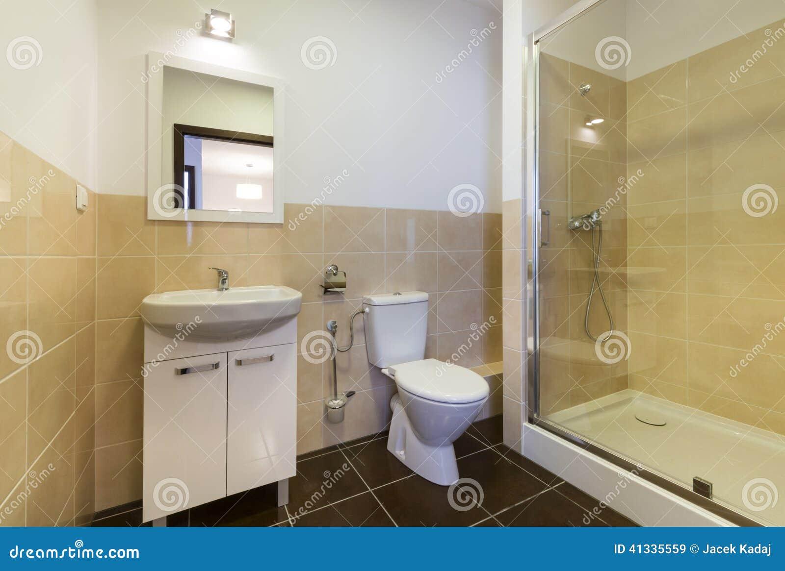 Modernt Badrum Med Vaskar, Toalett Arkivfoto - Bild: 41335559