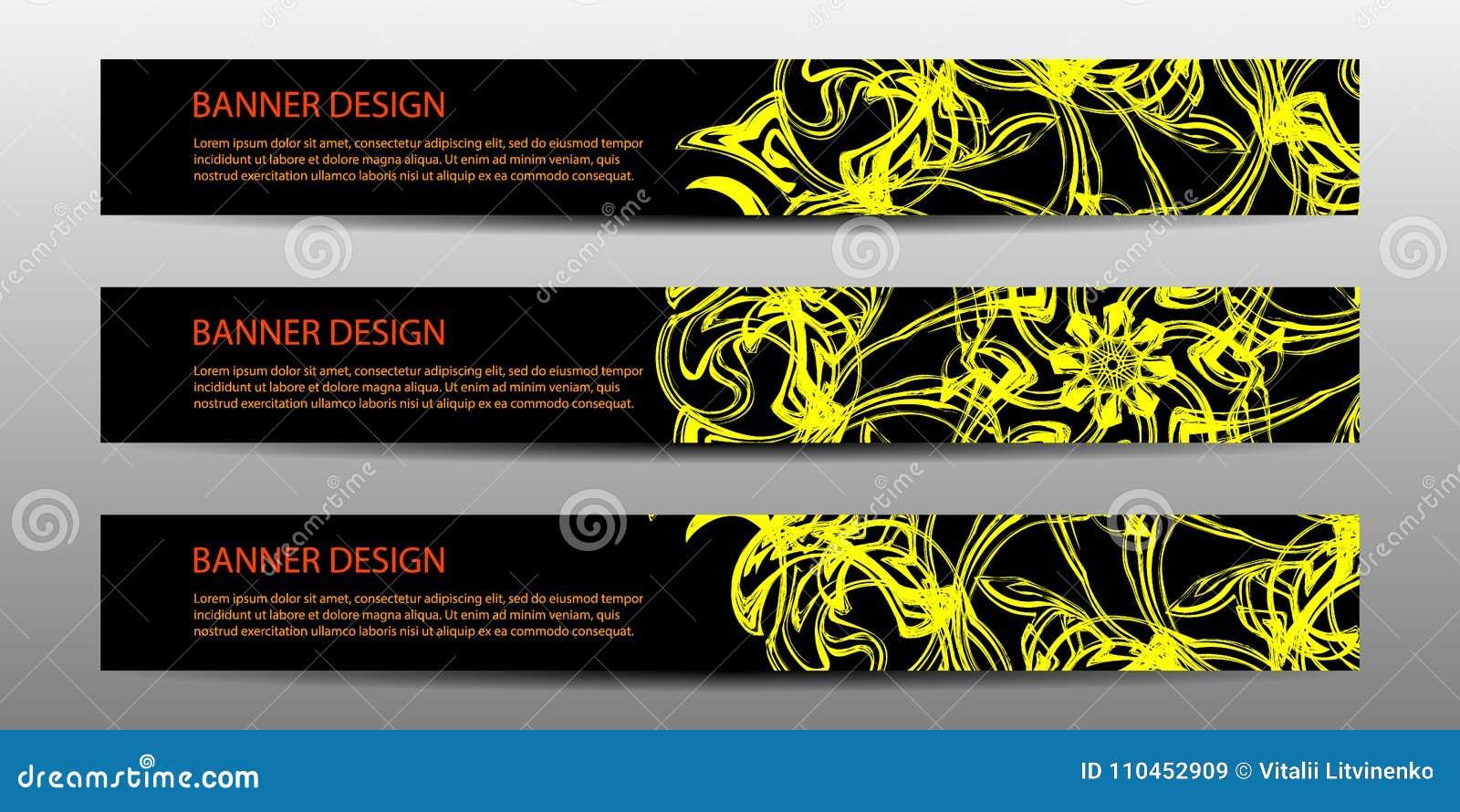 Modernt baner för abstrakt vektor med krabba linjer design för mall för affisch för årsrapportdesignmallar framtida