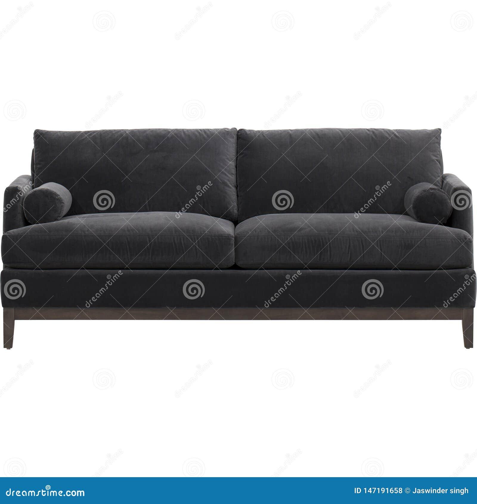Modernt Fauxläder för bästa primaa produkter, modulsoffa för 3 plats med soffa-säng, Andrea Sofa Bed Black med vit bakgrund - bil