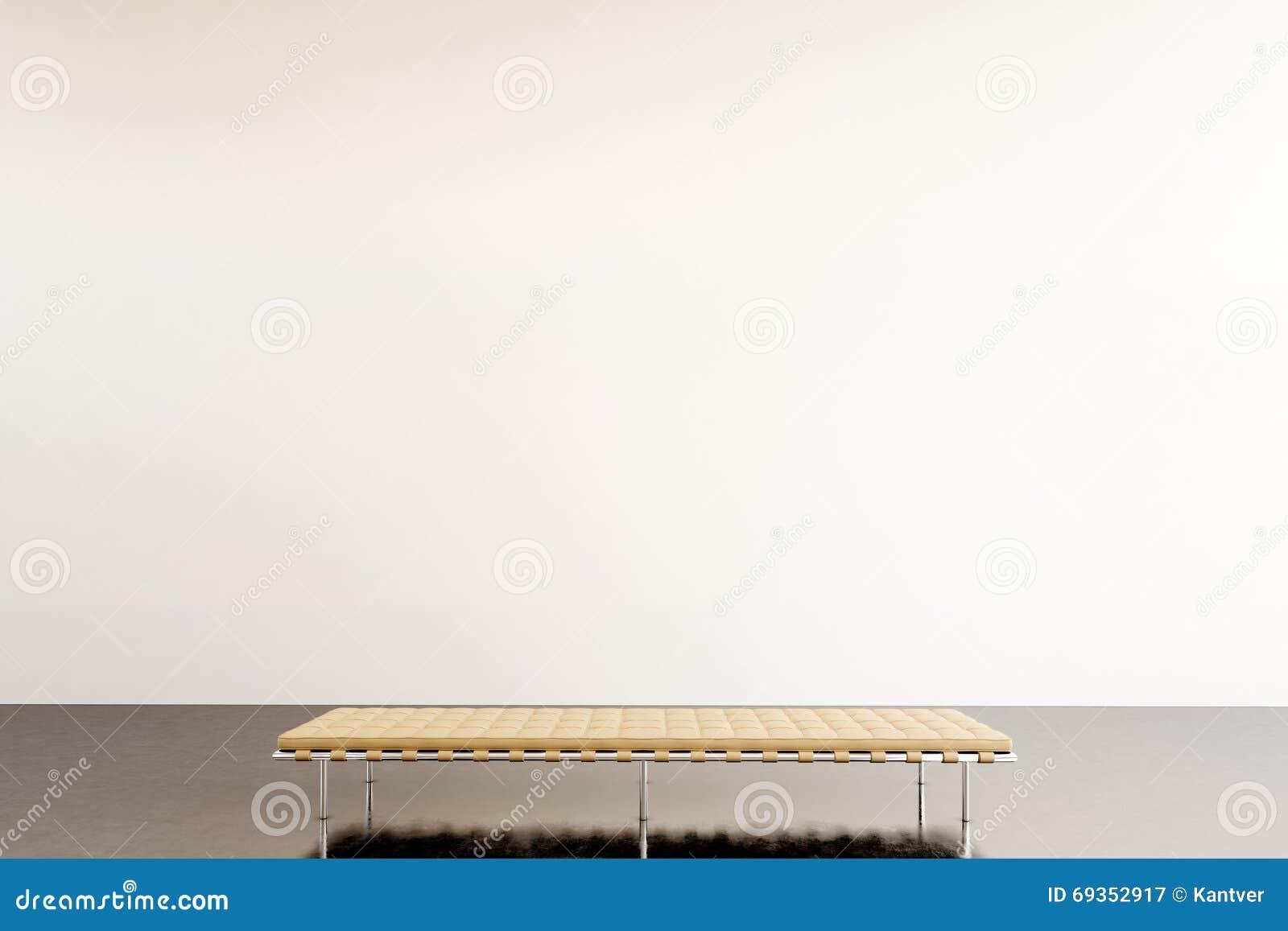 Modernt galleri för fotoutställning Tom vit vägg i samtida konstmuseum Inre vindstil med det konkreta golvet