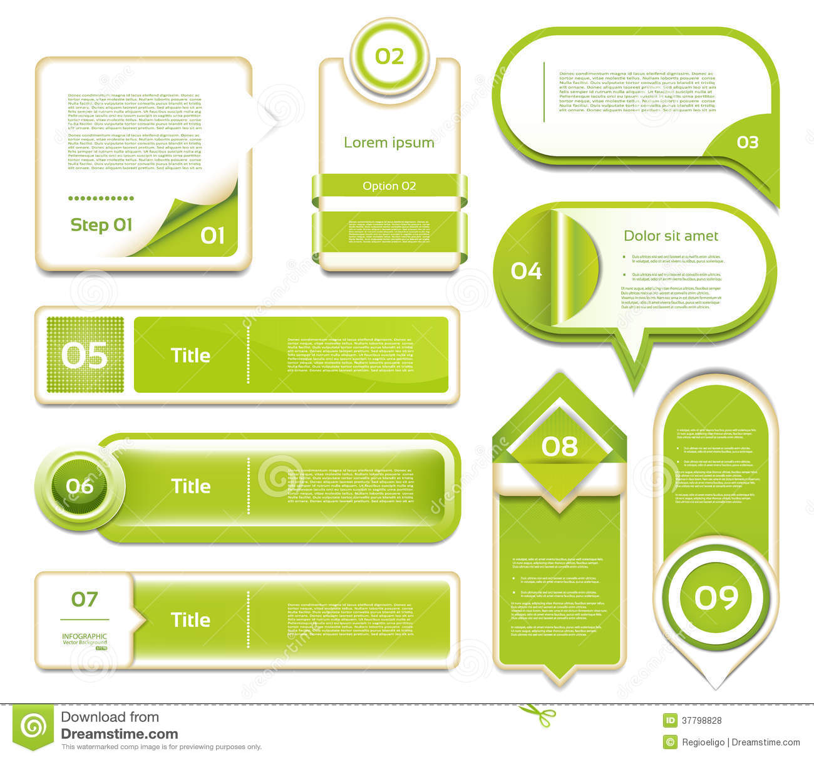Modernt infographicsalternativbaner. Vektorillustr