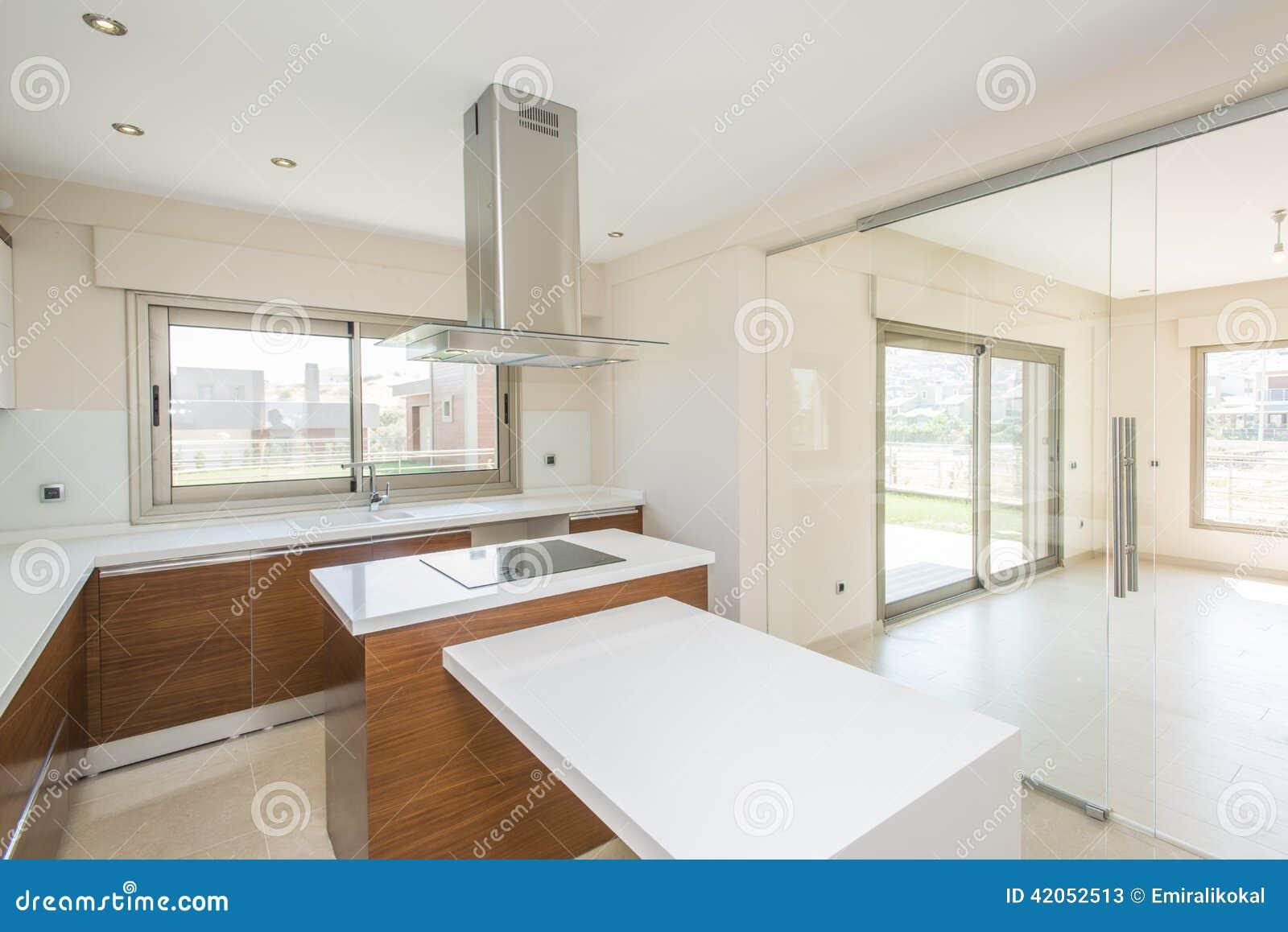 Modernt ljust kök arkivfoto   bild: 42052513