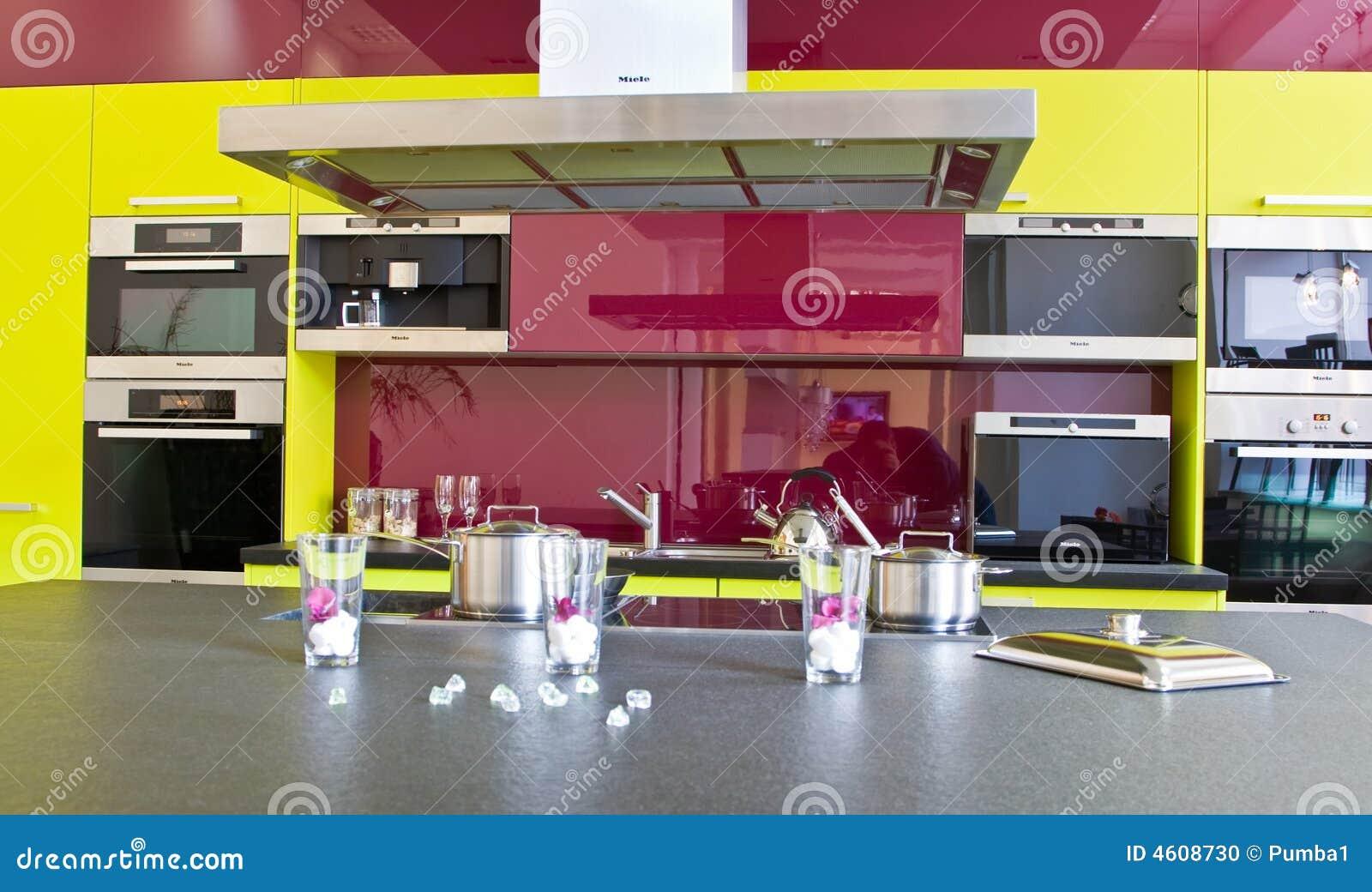 Modernt trendigt kök arkivfoto   bild: 4608730