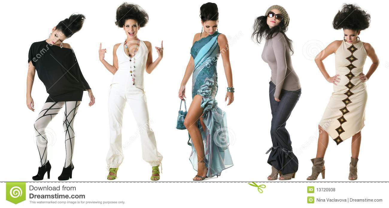 Fashion model sketches
