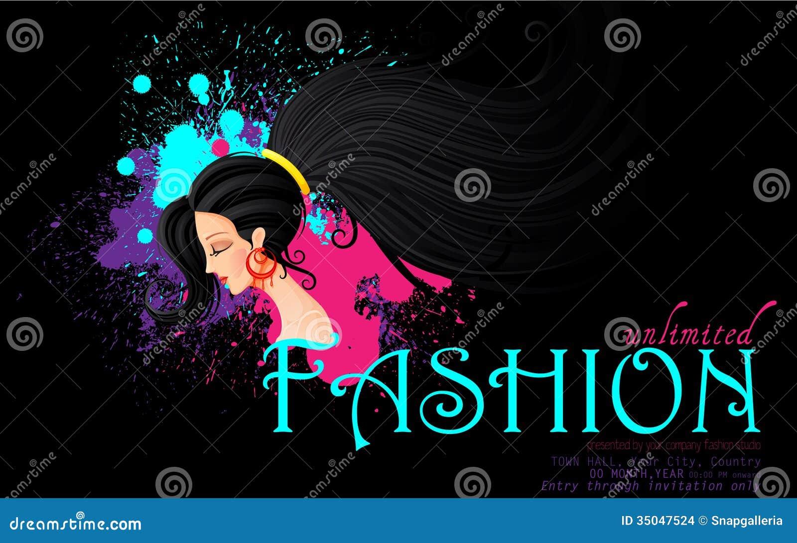 Modeshow Vector Illustratie Illustratie Bestaande Uit Mooi 35047524