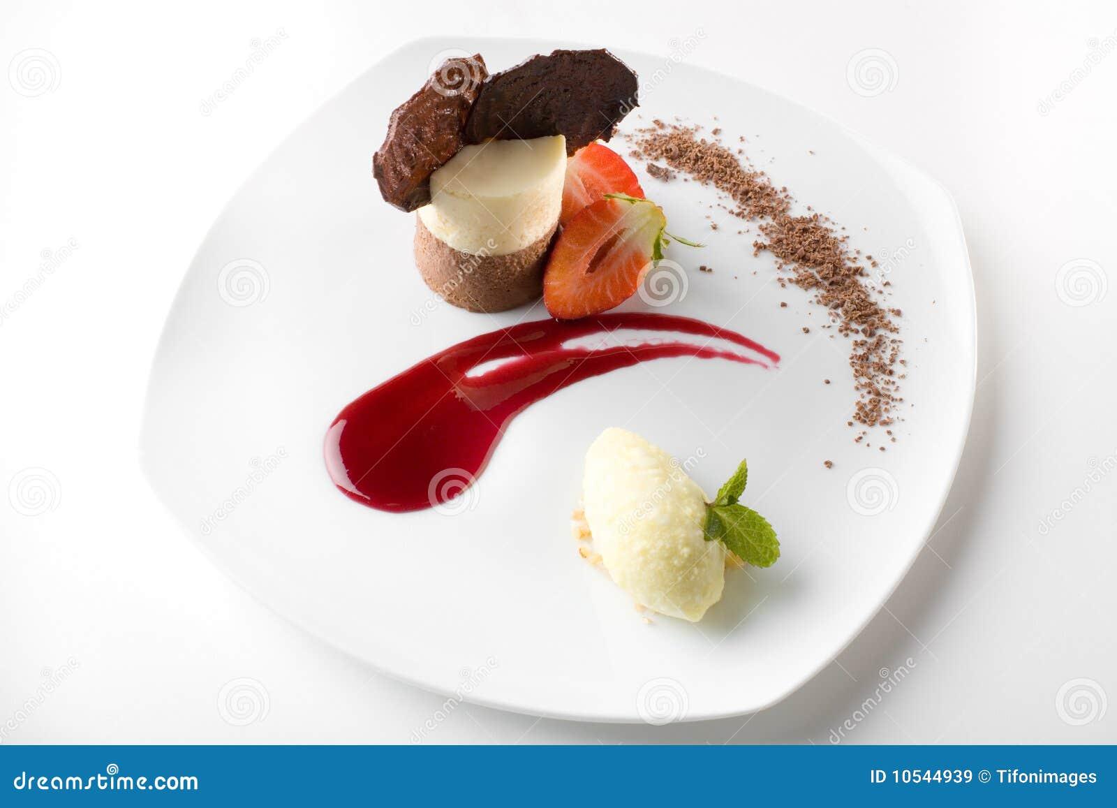 Modieus gastronomisch dessert