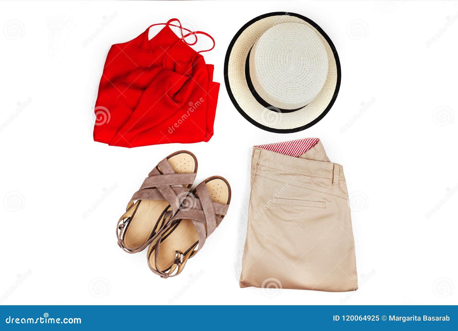 Modieuze, in vrouwelijke kleren en toebehoren