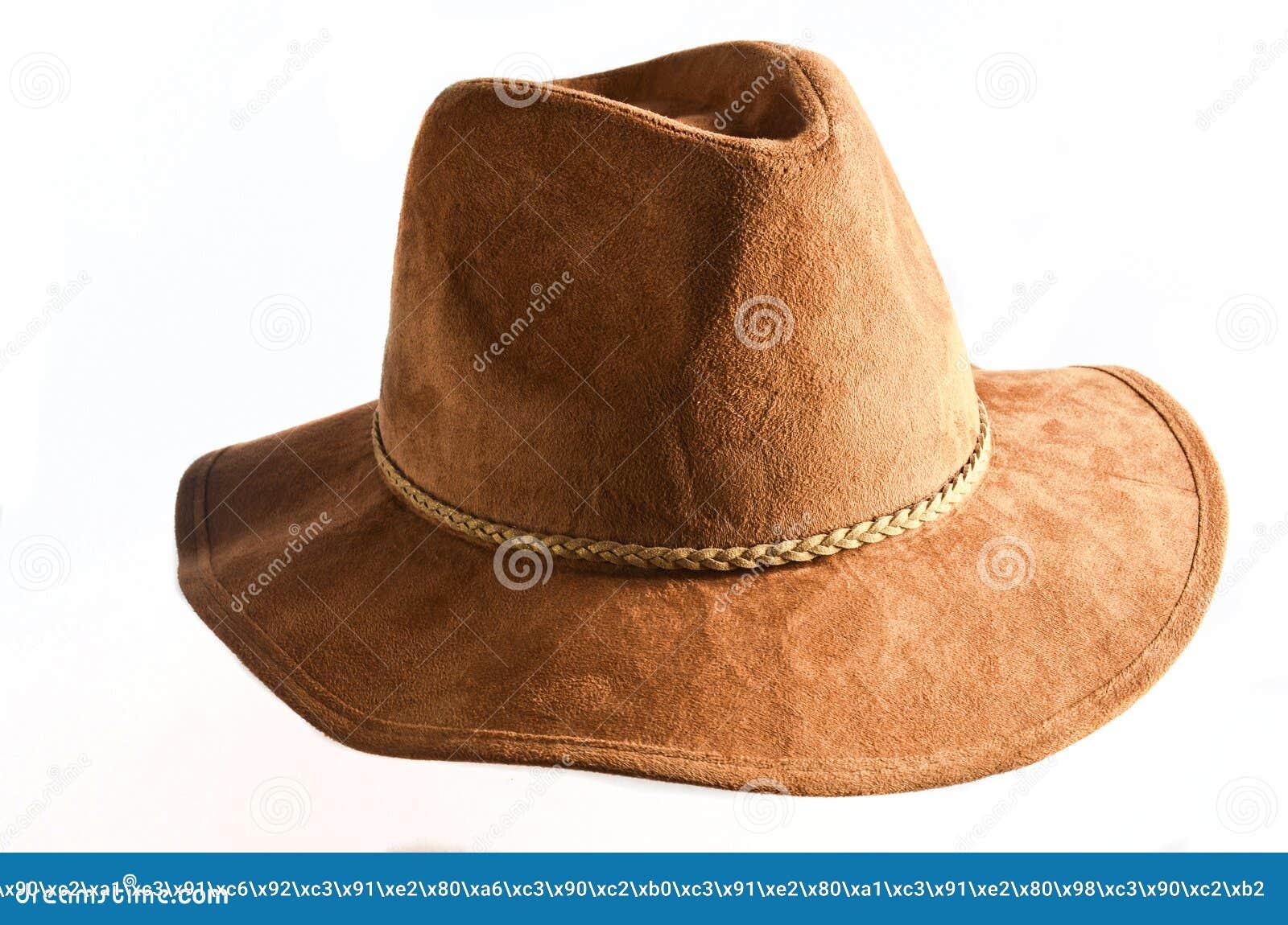 Modieuze vrouwelijke vilten die hoed op witte achtergrond wordt geïsoleerd De hoeden van de de herfstlente