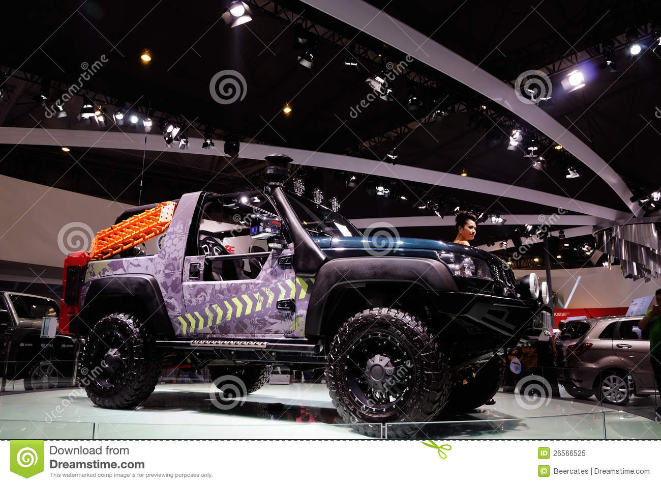 modification of off road vehicle editorial image image 26566525. Black Bedroom Furniture Sets. Home Design Ideas