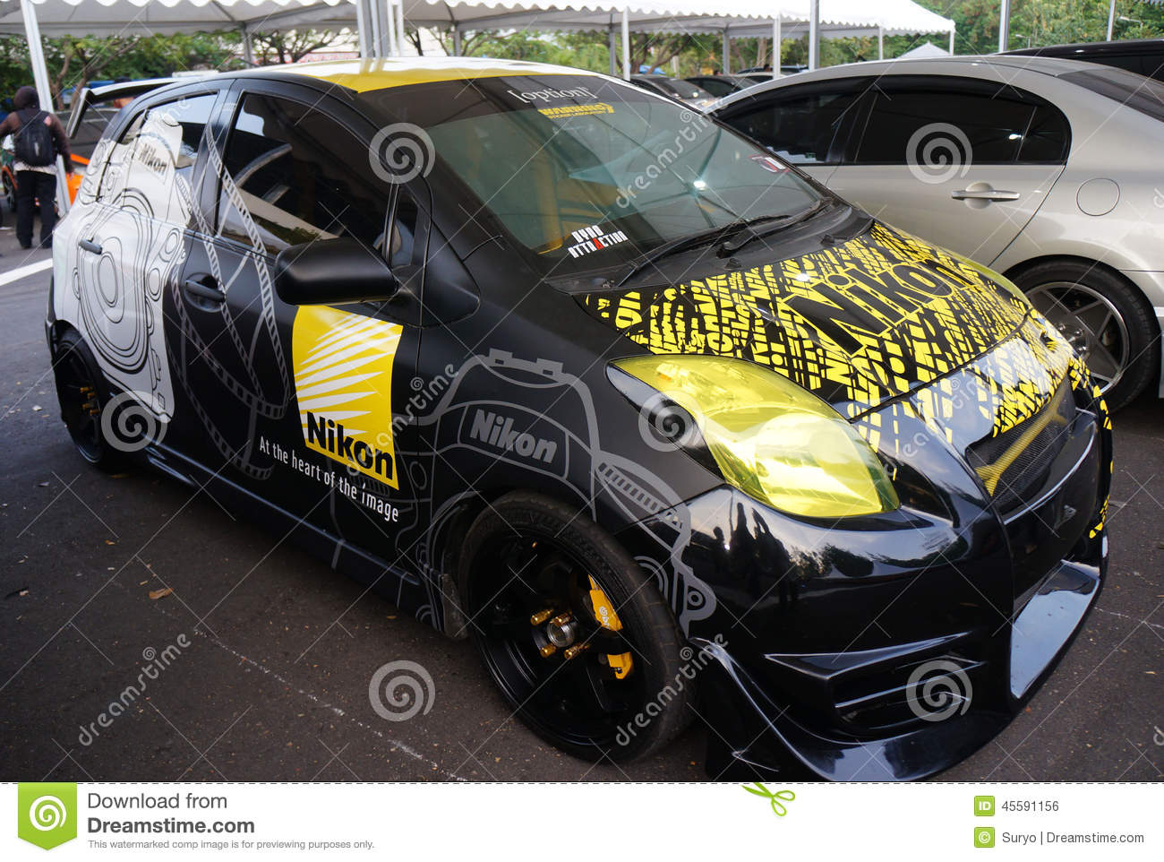 Modified car editorial photo  Image of technology, java - 45591156