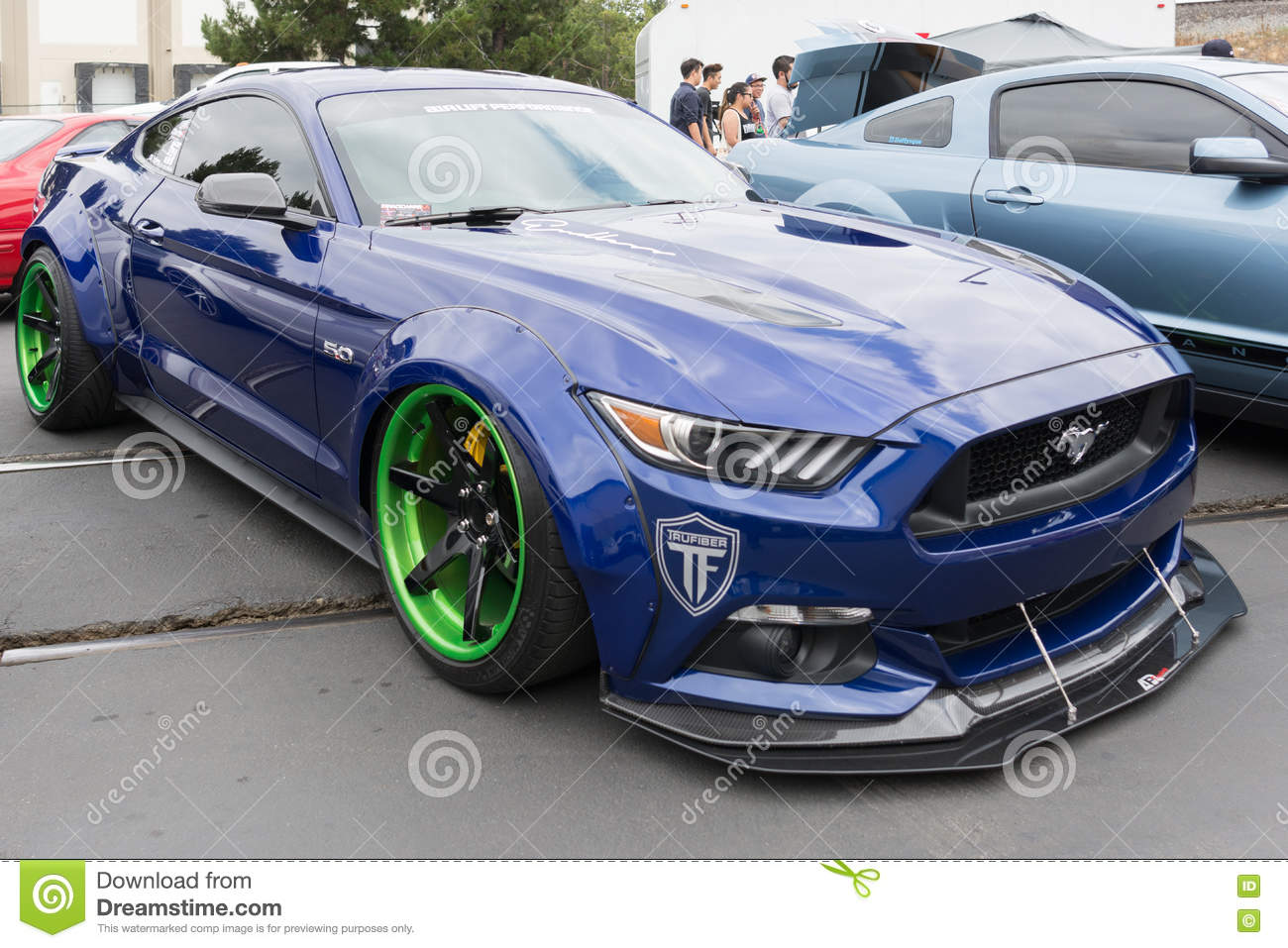 Fullerton usa may 14 2016 modified ford mustang during extreme dimensions car show
