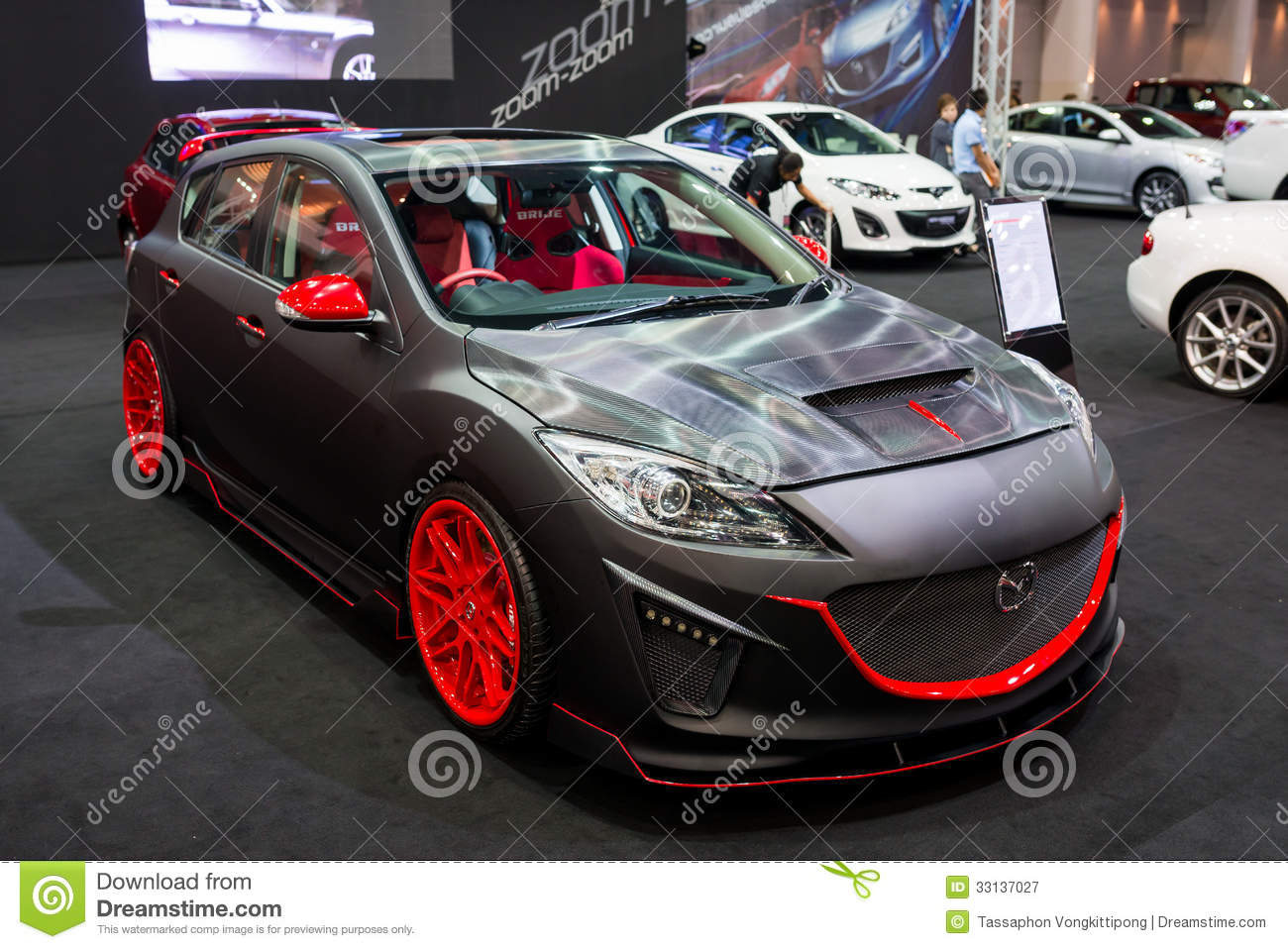 Modified mazda 3 on display editorial photography image for 3rd international salon of photography smederevo 2013