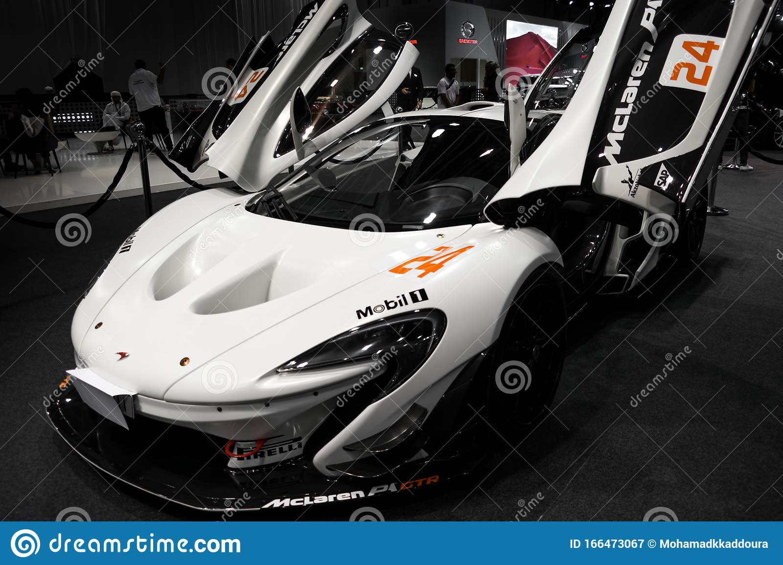 Modified Track White Mclaren P1 Displayed In Dubai Car Show High Performance Exotic Cars Editorial Photography Image Of Exotic Cars 166473067
