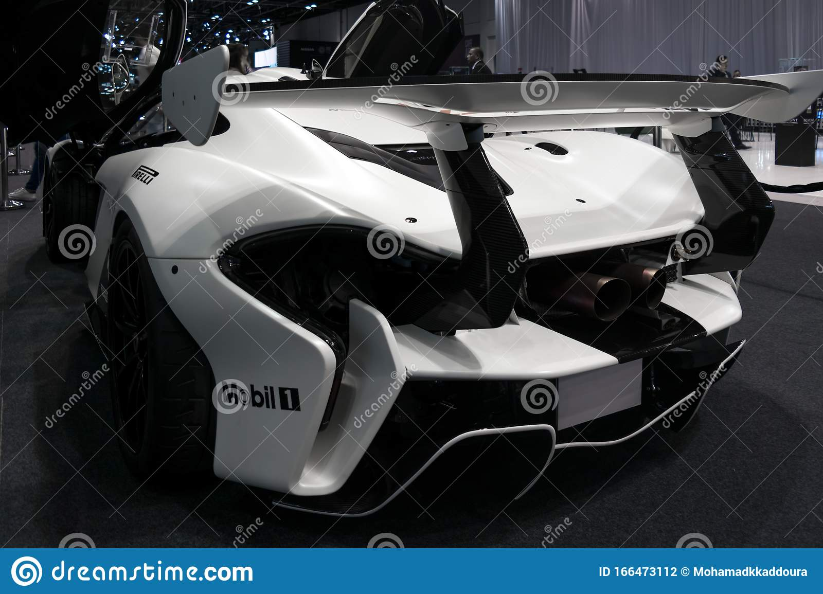 Modified Track White Mclaren P1 Displayed In Dubai Car Show High Performance Exotic Cars Editorial Photography Image Of Model Beauty 166473112
