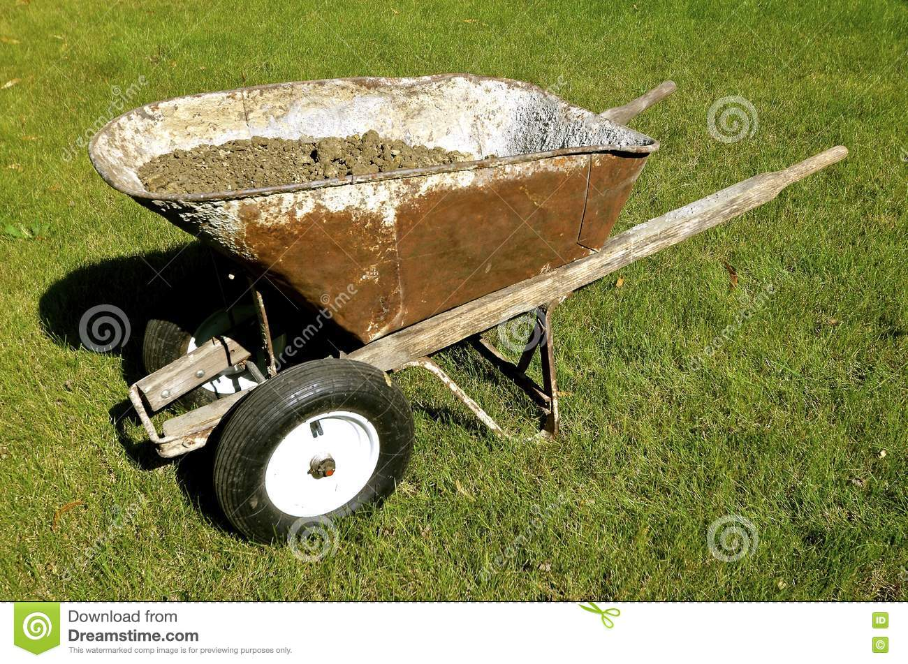 Modified Wheelbarrow With Two Front Wheels Stock Image Image Of Detail Metal 76216127