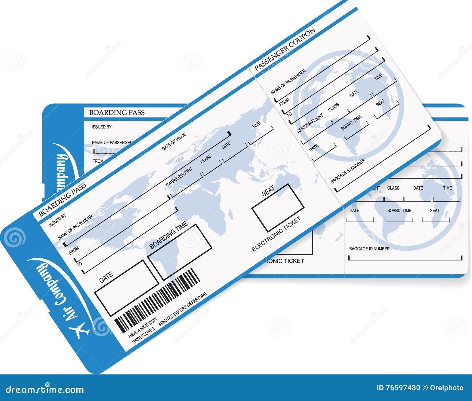 Mod le d 39 un billet de carte d 39 embarquement ou d 39 avion - Modele billet avion a imprimer ...