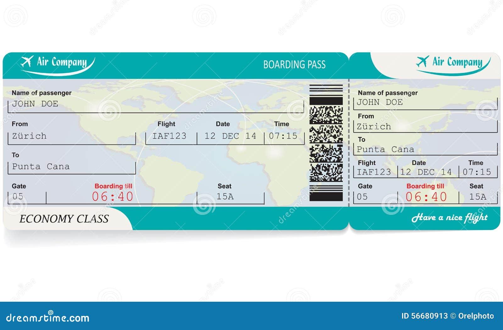 Mod le de billet de carte d 39 embarquement de ligne a rienne - Modele billet avion a imprimer ...