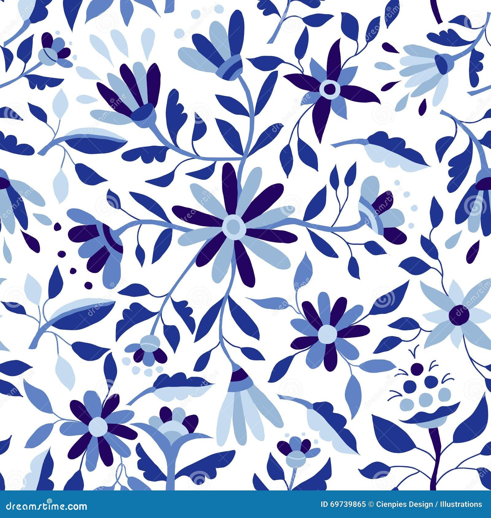 mod le de fleur de vintage dans la couleur de bleu d 39 indigo illustration de vecteur image. Black Bedroom Furniture Sets. Home Design Ideas
