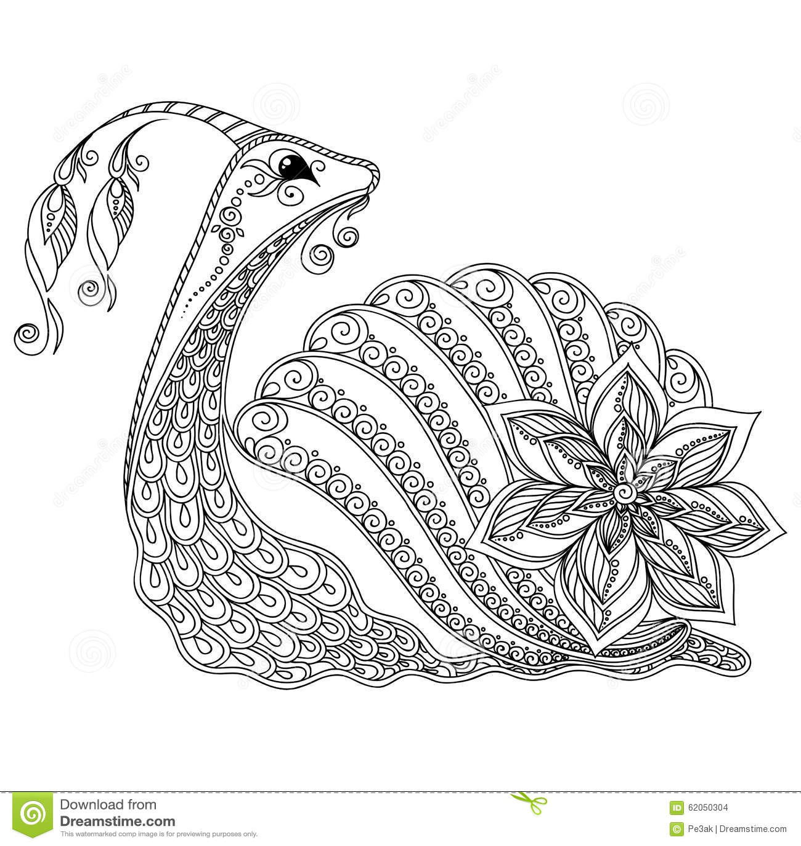 Mod le pour livre de coloriage illustration d 39 un escargot - Dessin d un escargot ...