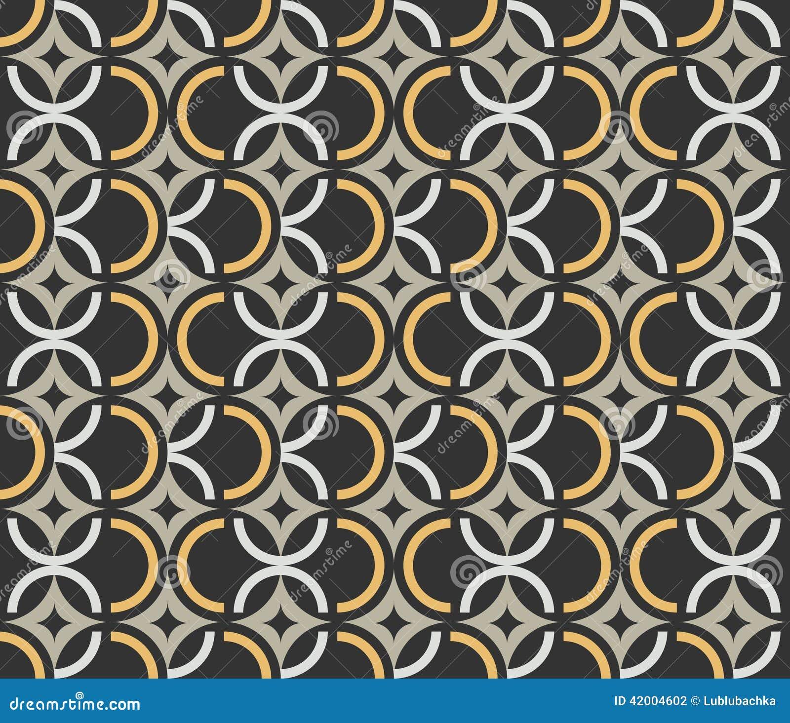 Mod Le Sans Couture De Papier Peint De Vintage D 39 Art Deco Illustration De Vecteur Image 42004602