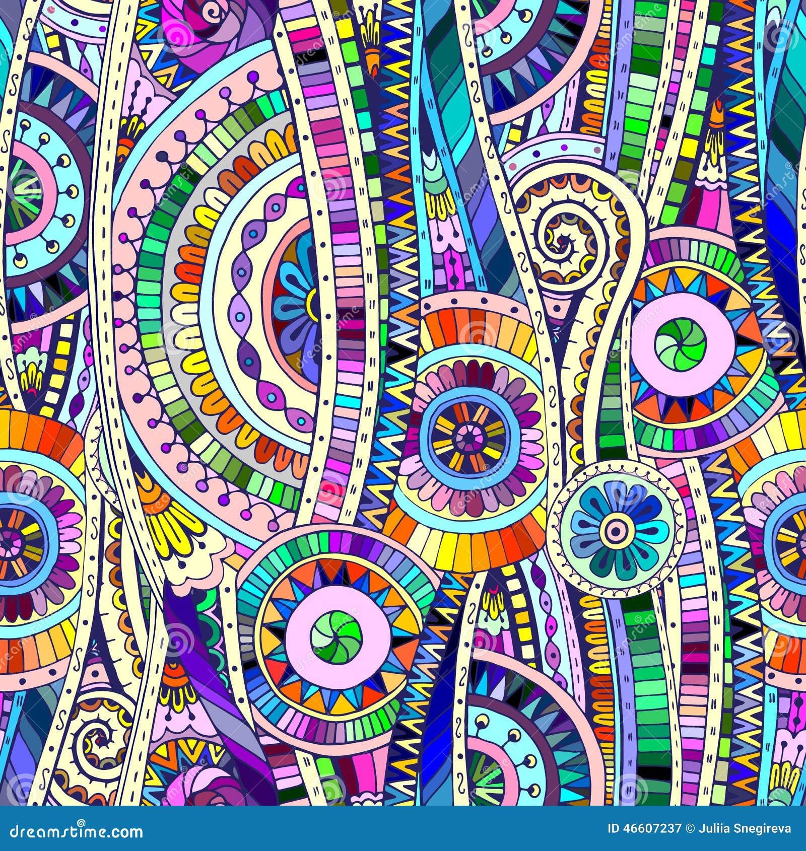 Mod le sans couture ethnique de doddle tribal de mosa que for Comment coller de la mosaique