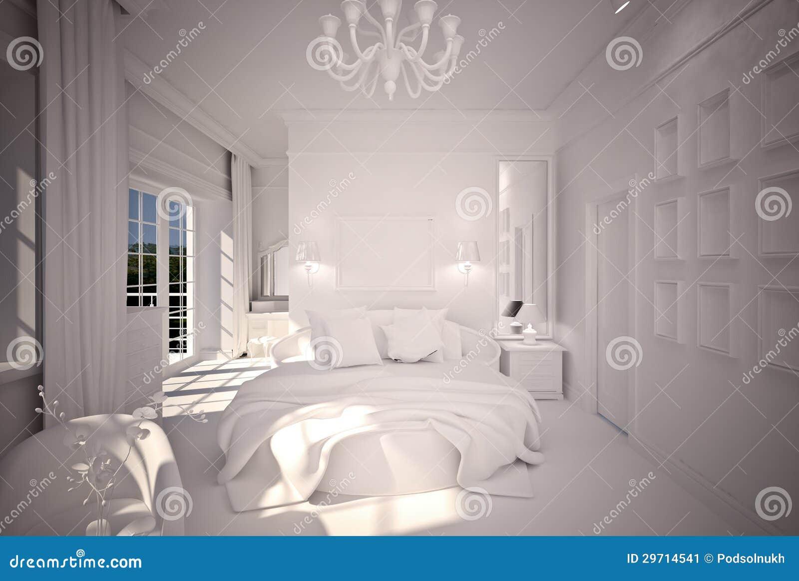 Conception intérieure b&w de chambre à coucher image stock   image ...