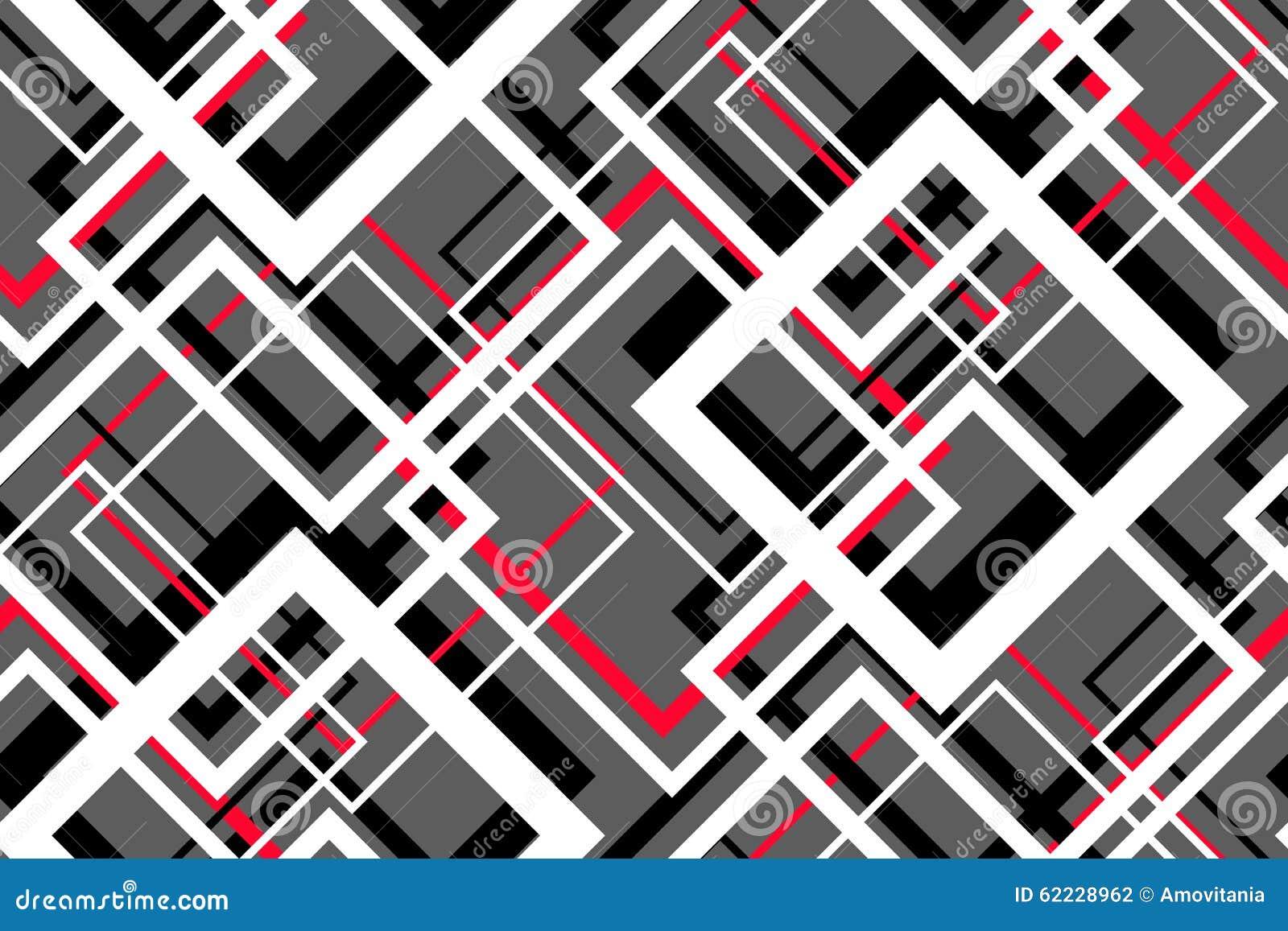 Modnego kontrasta geometryczny bezszwowy wzór
