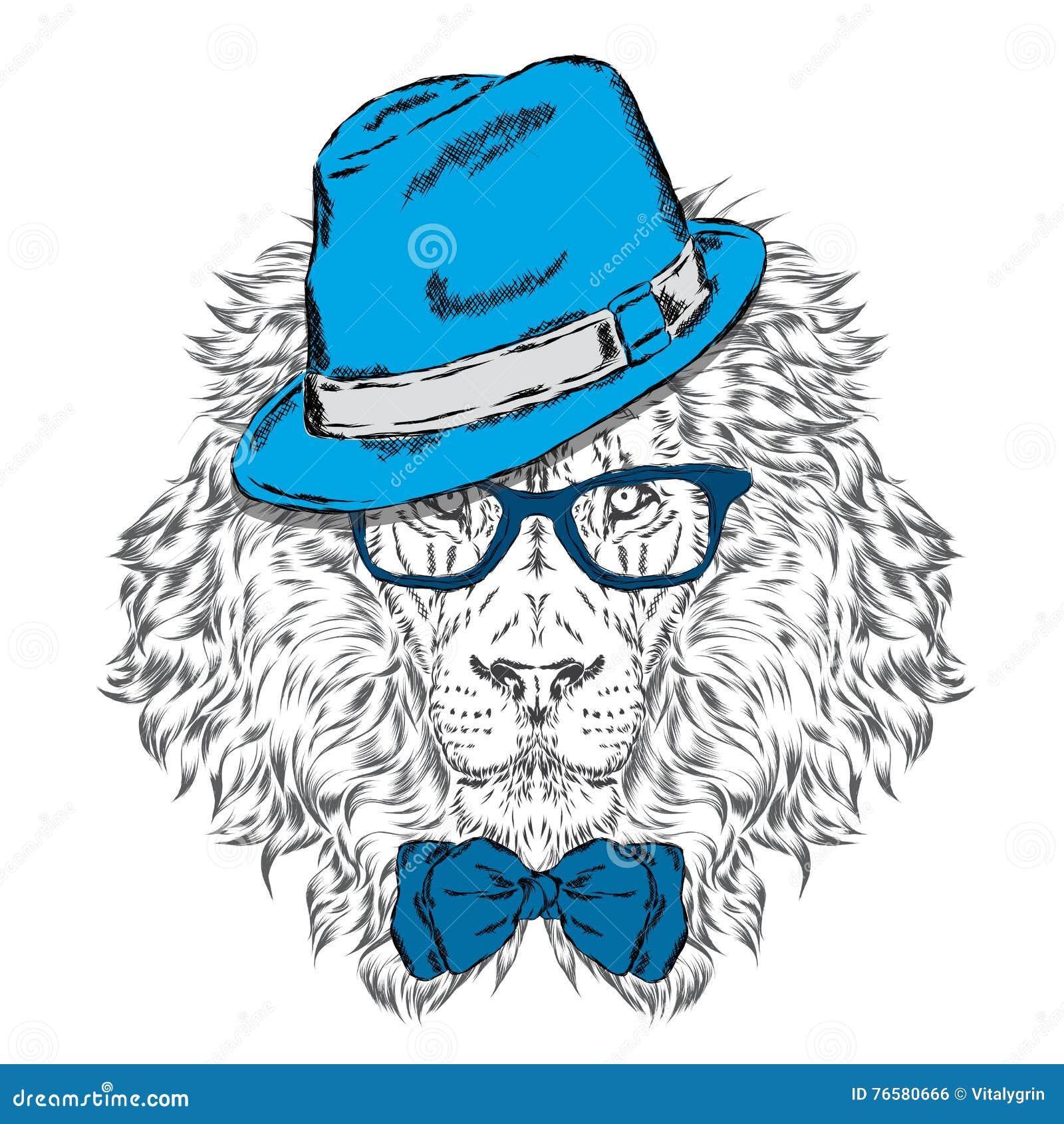 Modniś Plakat Druk Kartka Z Pozdrowieniami Z Zwierzętami Leo