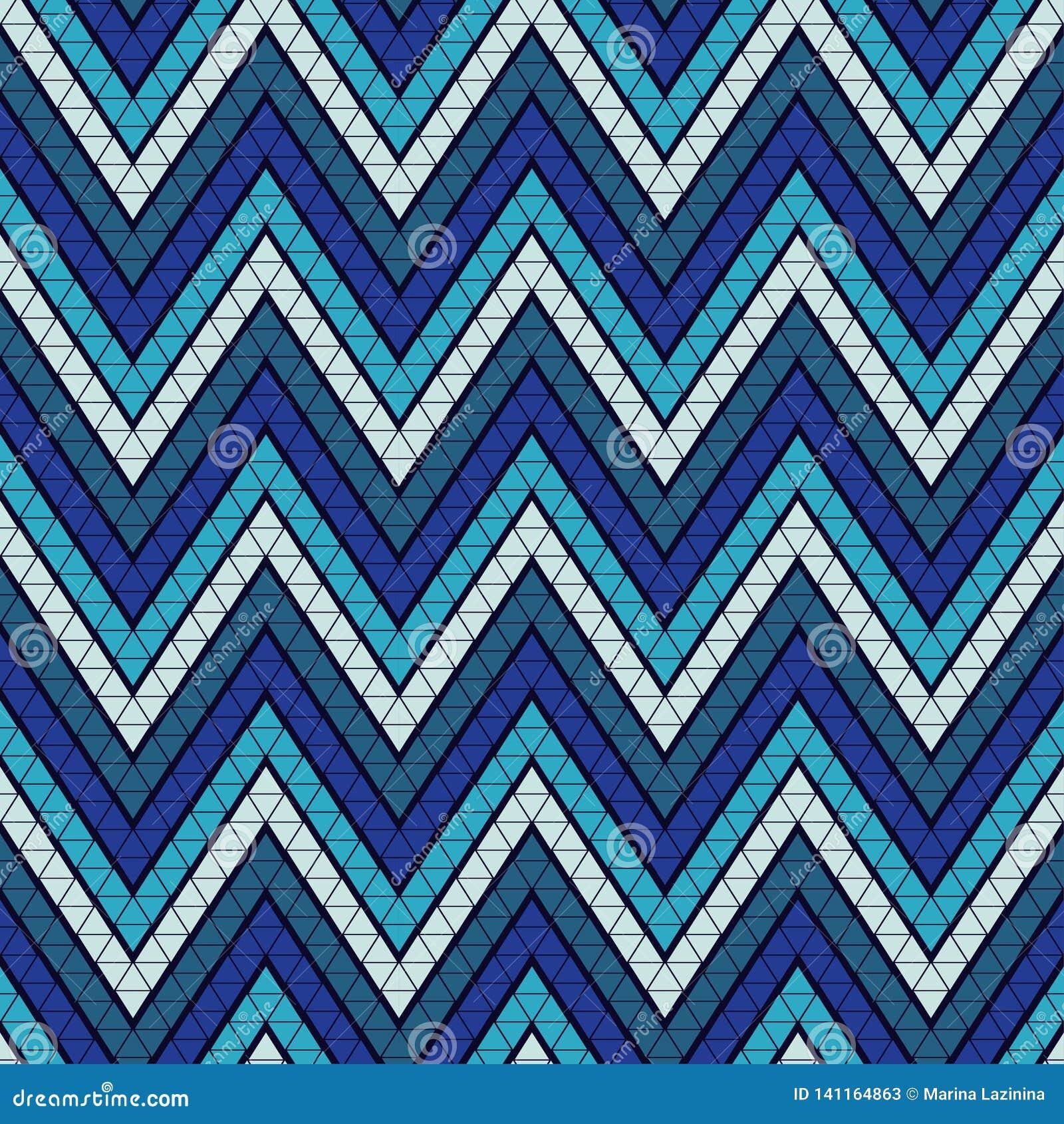 Modni bezszwowi wzorów projekty Kształty zygzag robić trójboki wieloboki Wektorowy geometryczny tło