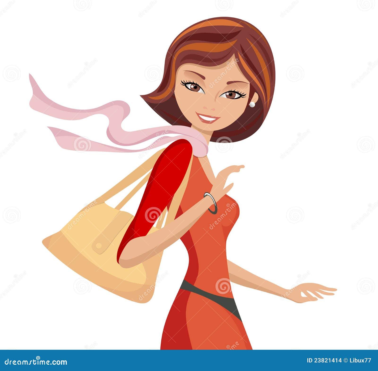 Modny dziewczyny torebki odprowadzenie