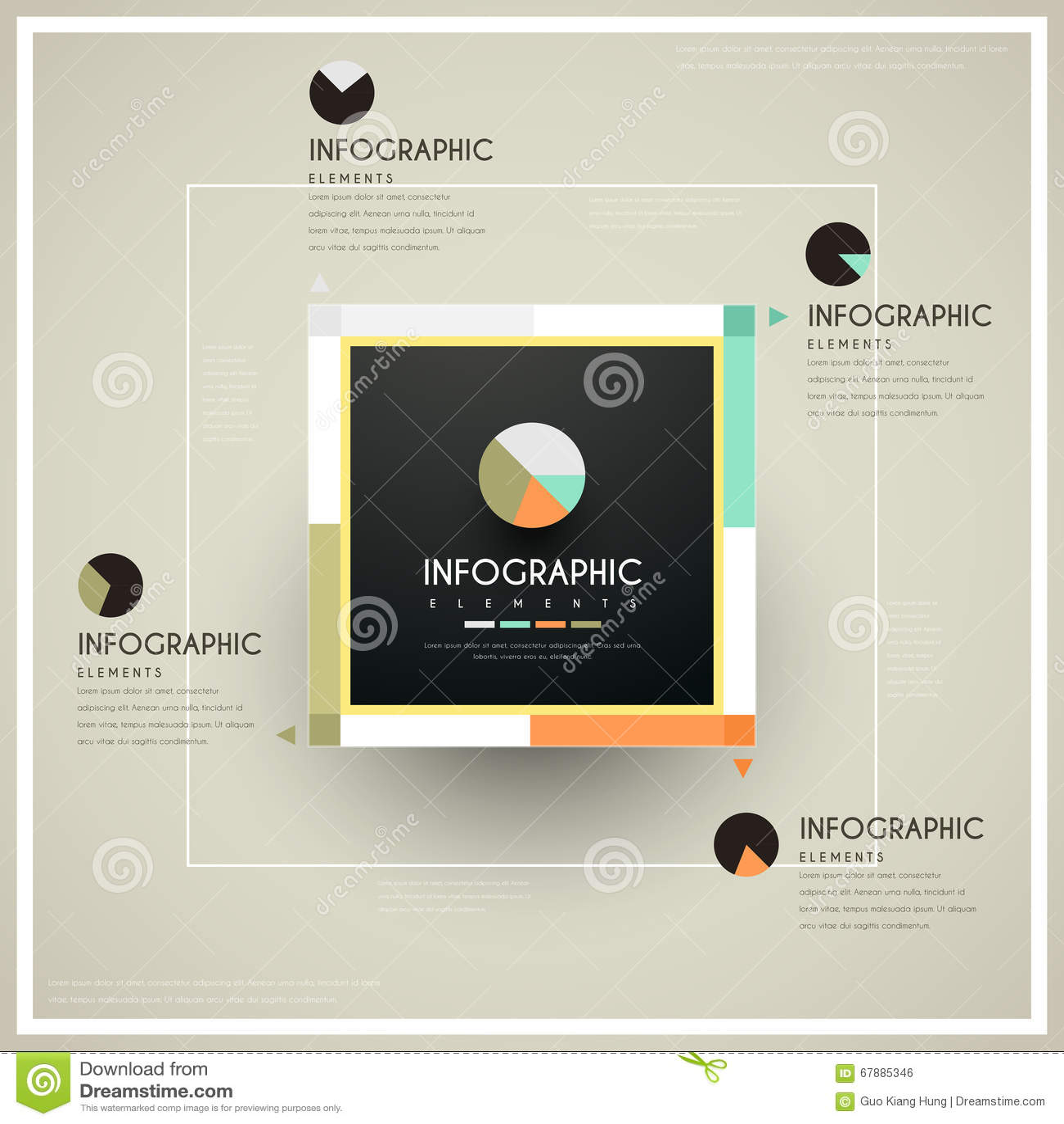 Modny infographic projekt