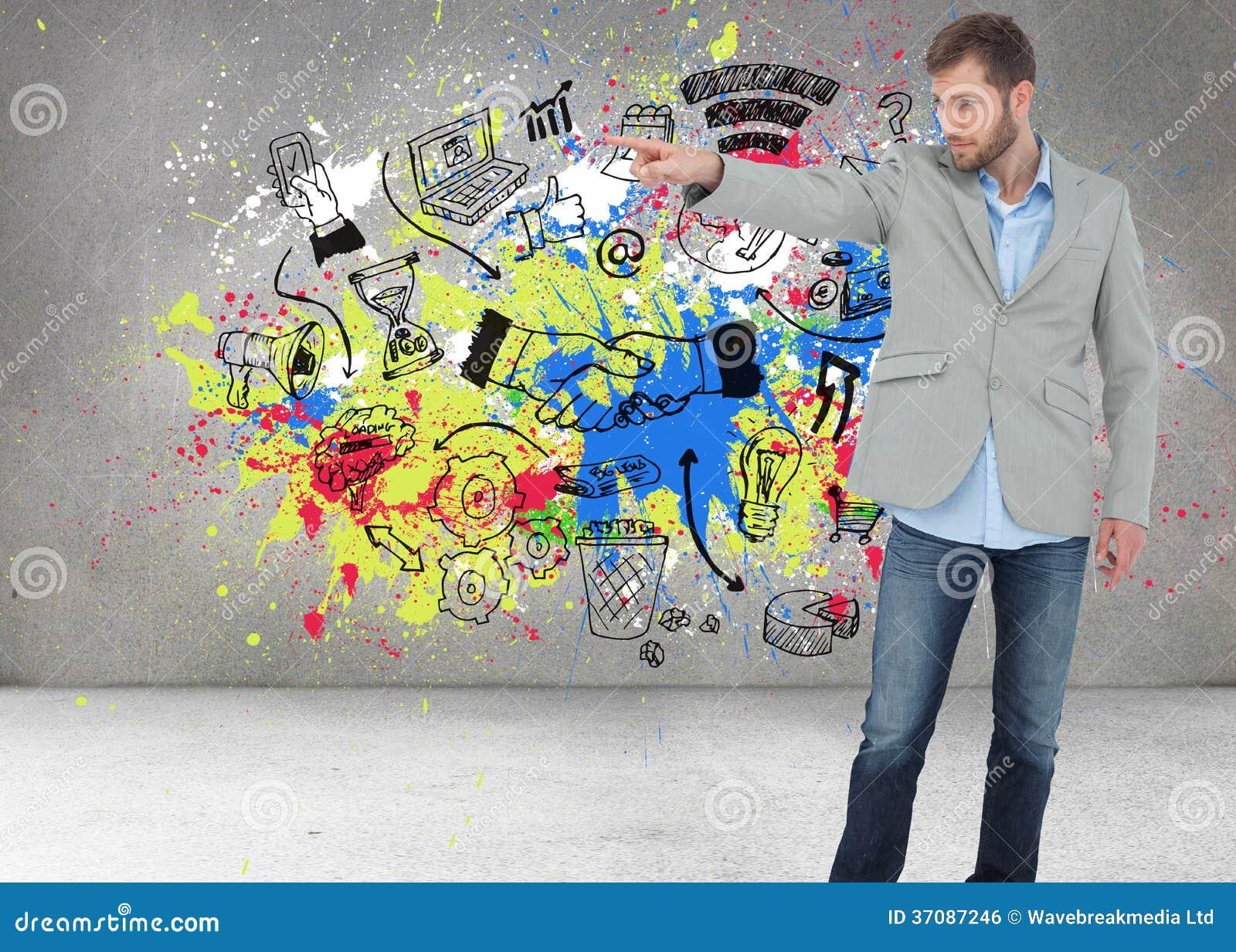 Download Modny Wzorcowy Wskazywać Coś Zdjęcie Stock - Obraz złożonej z dochodowość, grafika: 37087246