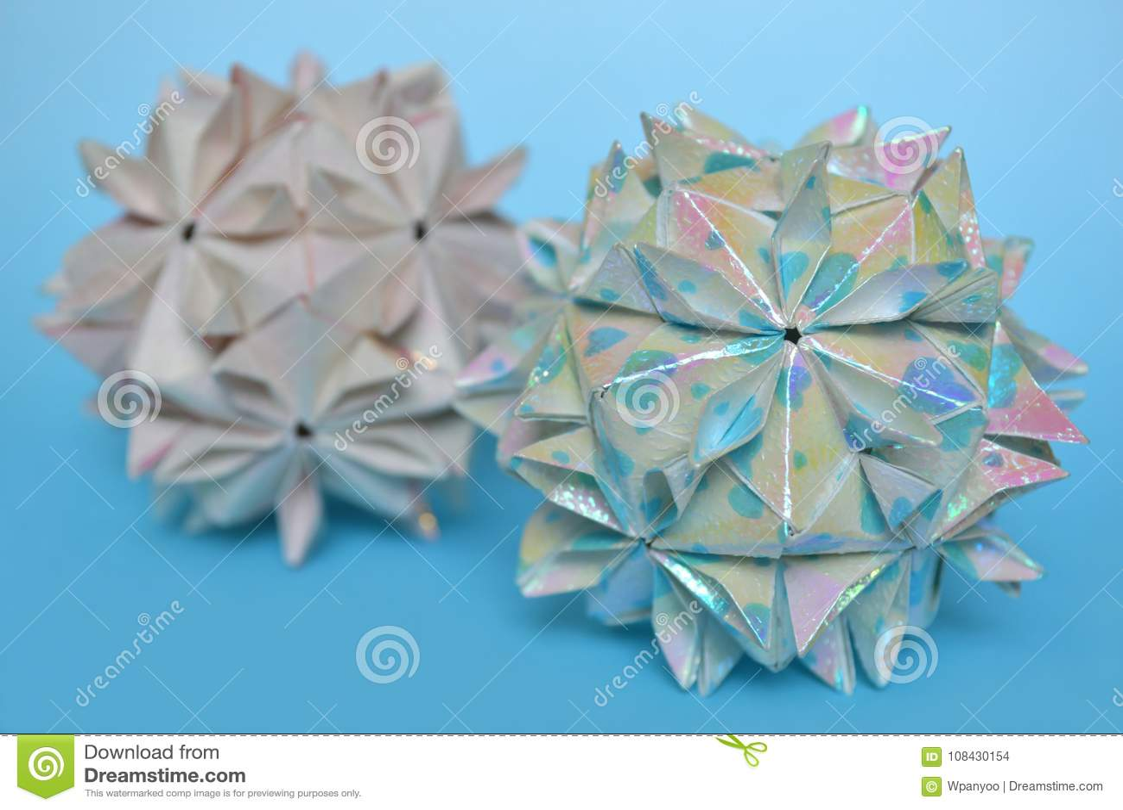 Modular Origami Cherry Blossom Ball Stock Photo Image Of Flower
