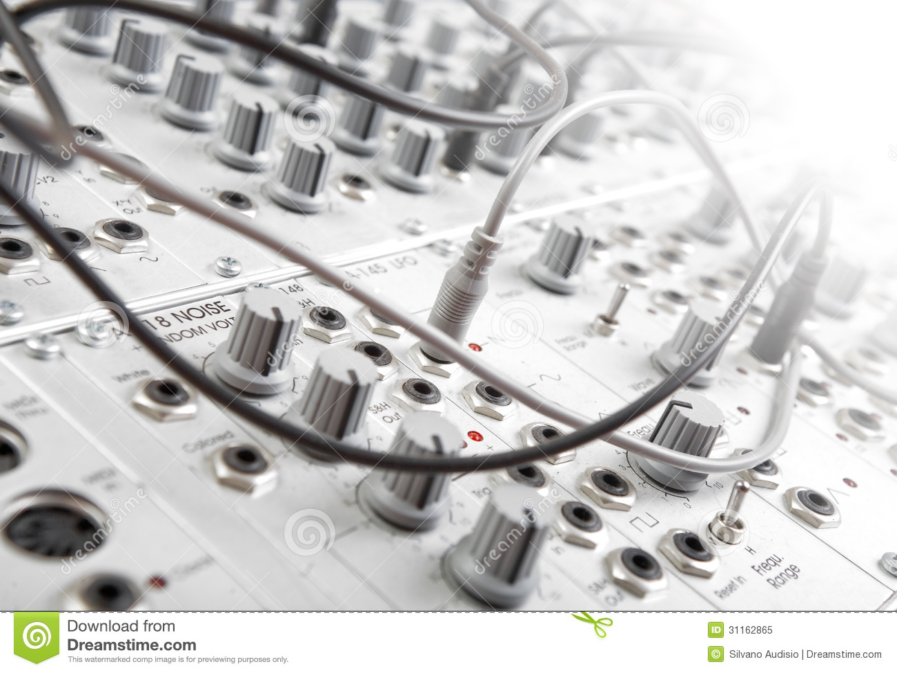 modular synth stock image image of eelectro disc record 31162865. Black Bedroom Furniture Sets. Home Design Ideas