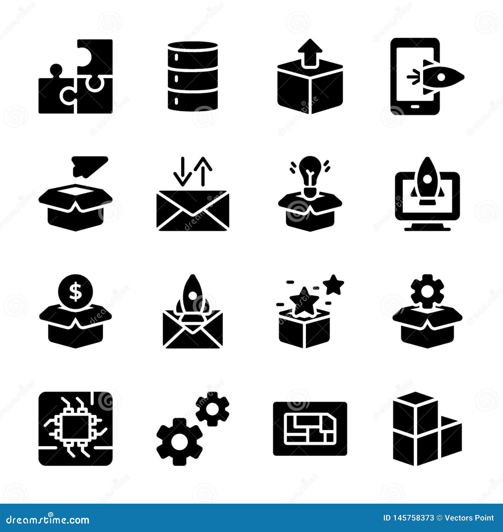 Module, Productversie, de Vectoren van Presentatieglyph
