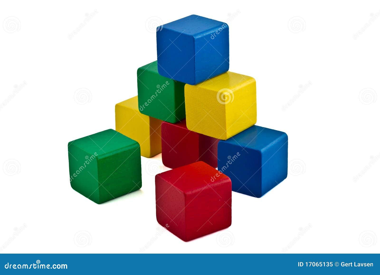 Modules colorés - pyramide