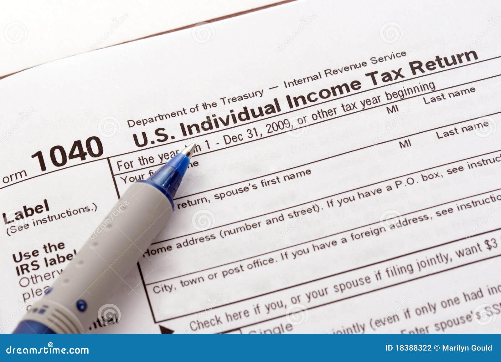 Modulo di dichiarazione dei redditi degli Stati Uniti