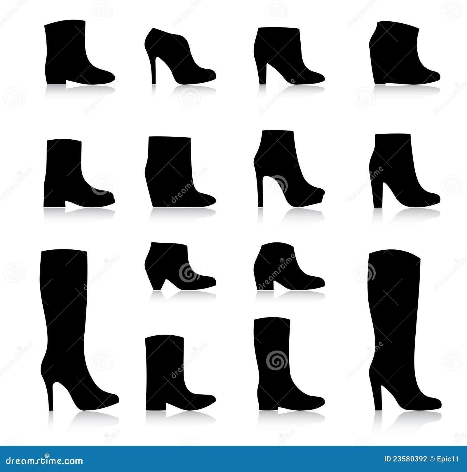 Mody butów wektorowe kobiety
