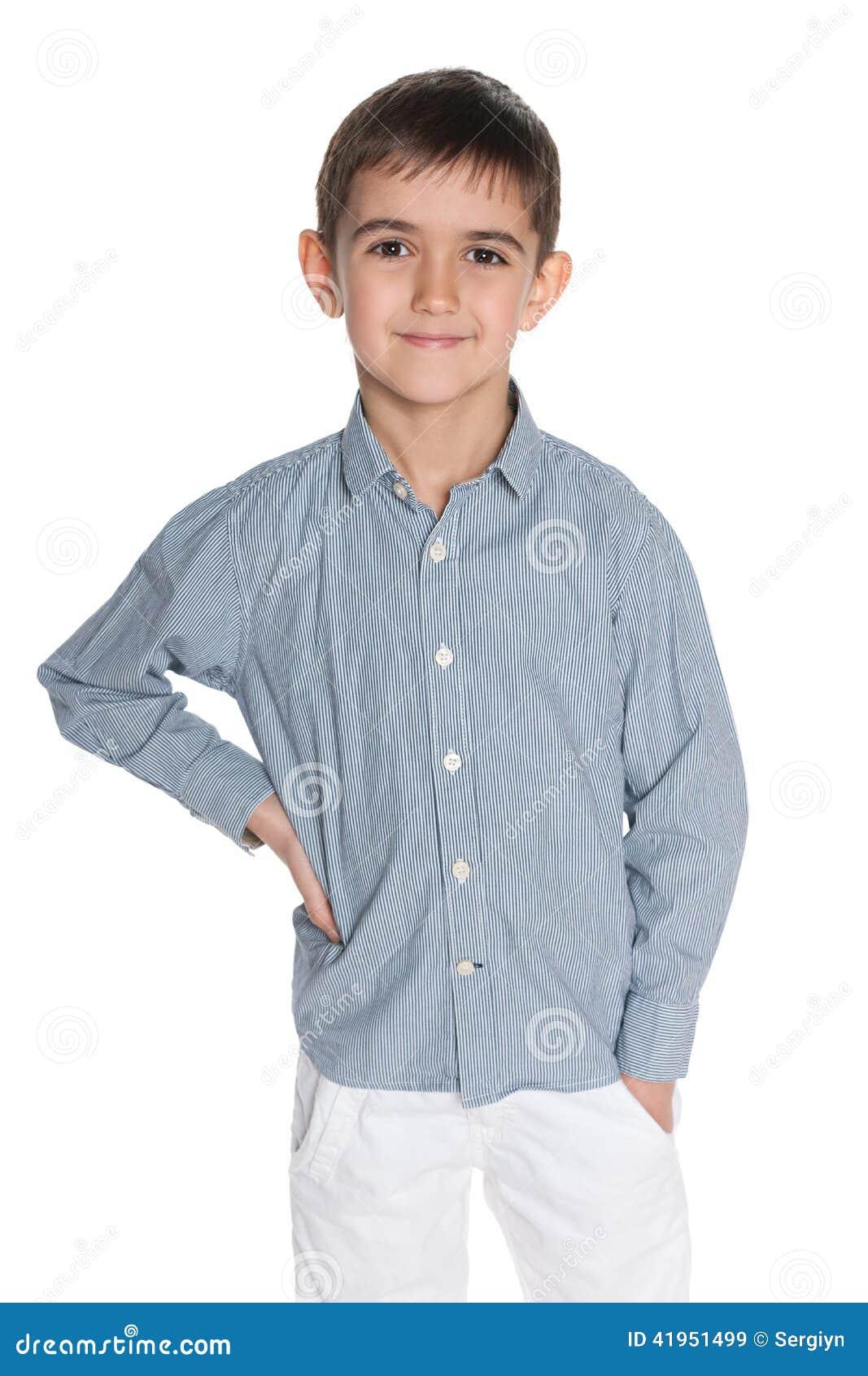 Mody chłopiec przeciw bielowi