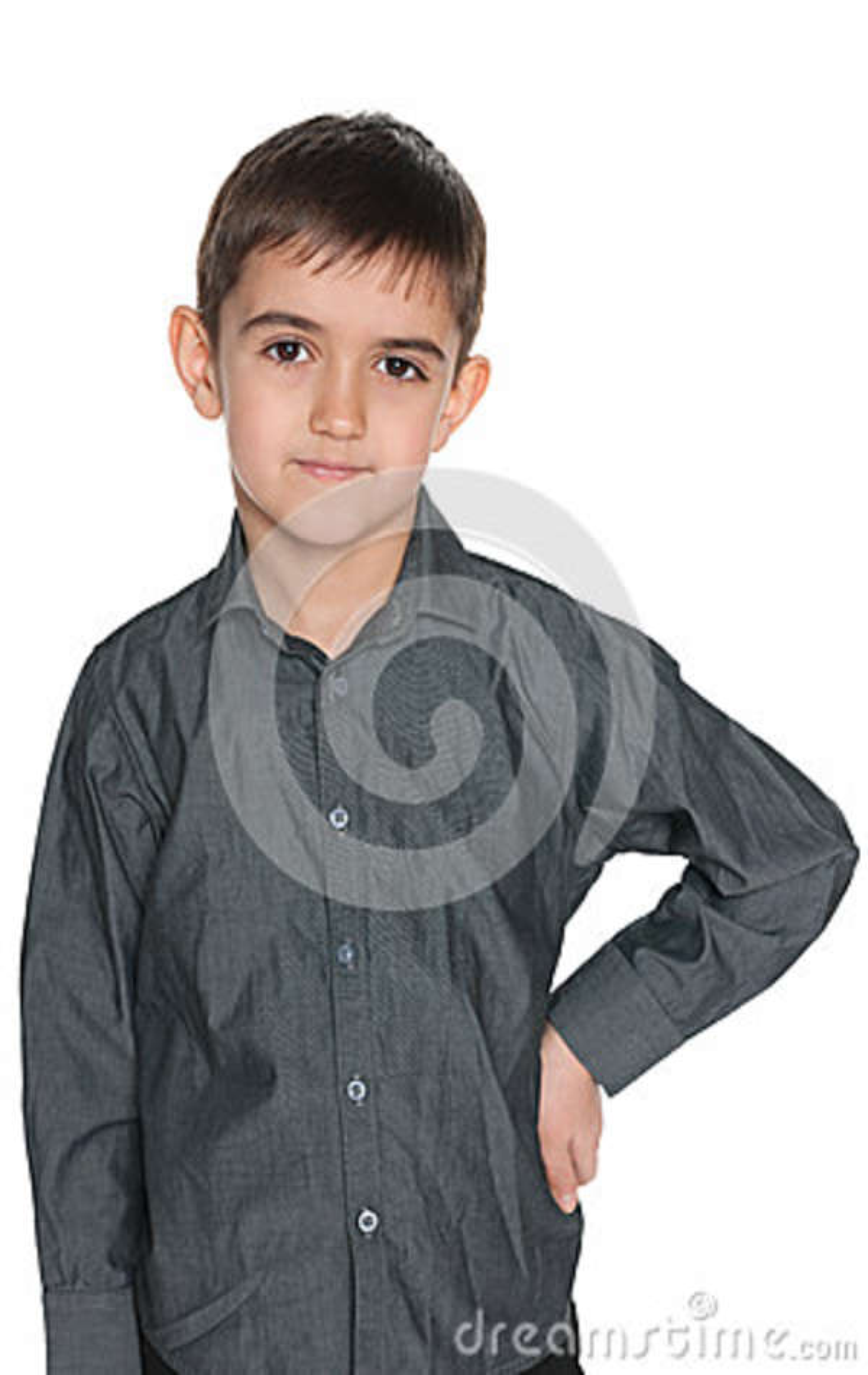 Mody młoda chłopiec przeciw bielowi