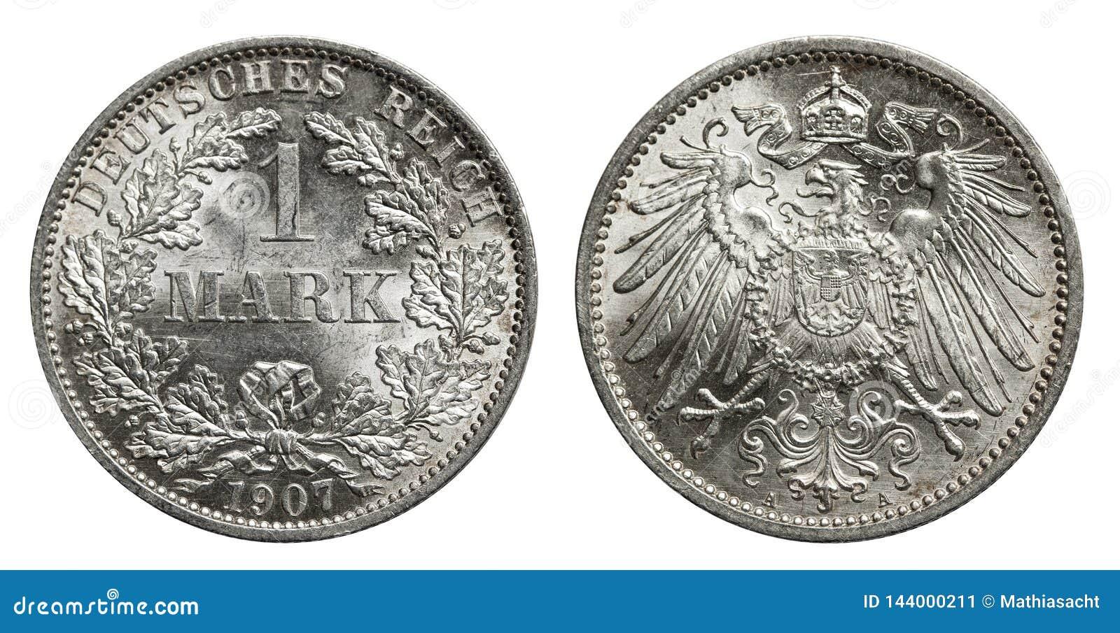Moeda de prata Alemanha 1907 da marca
